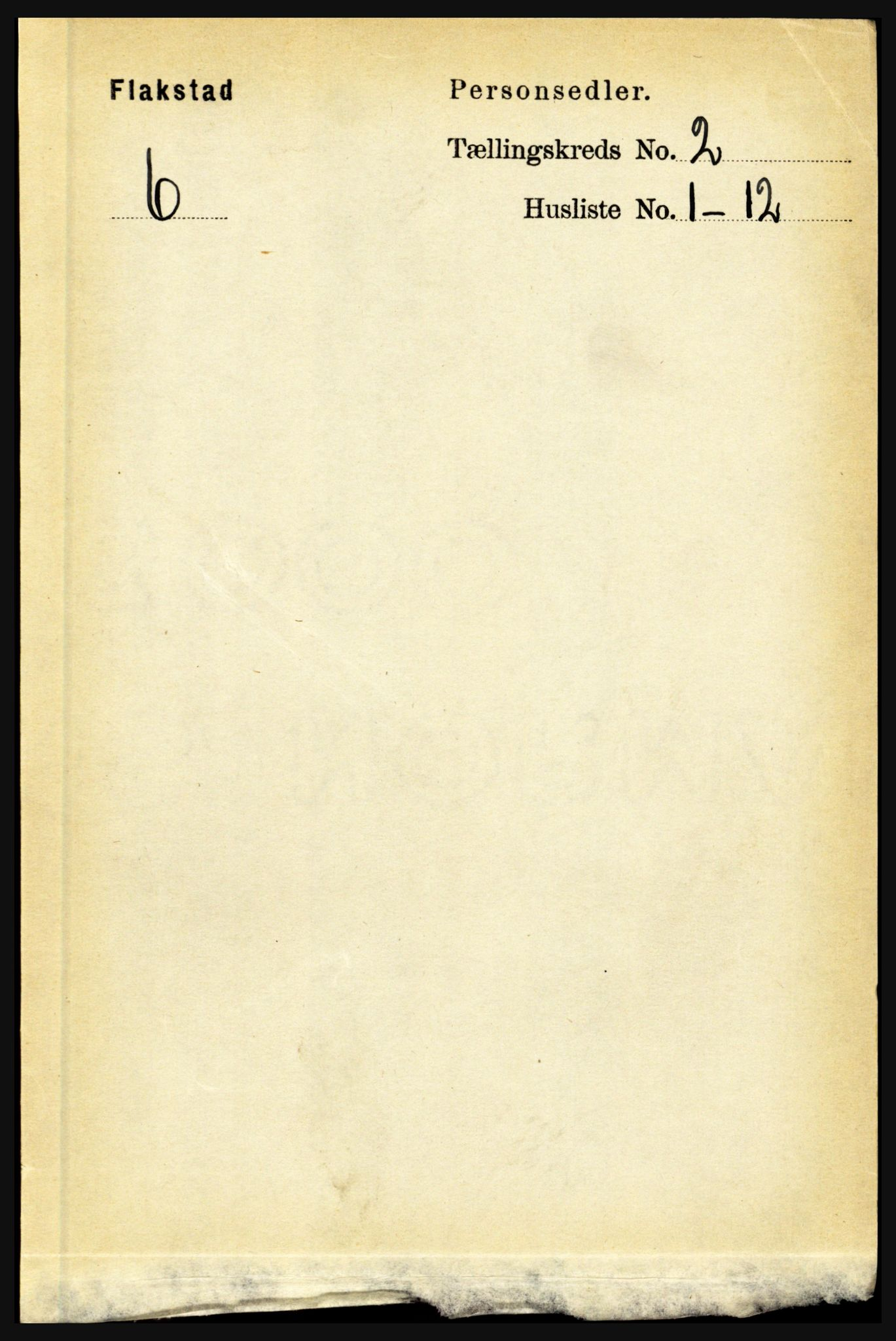 RA, Folketelling 1891 for 1859 Flakstad herred, 1891, s. 597