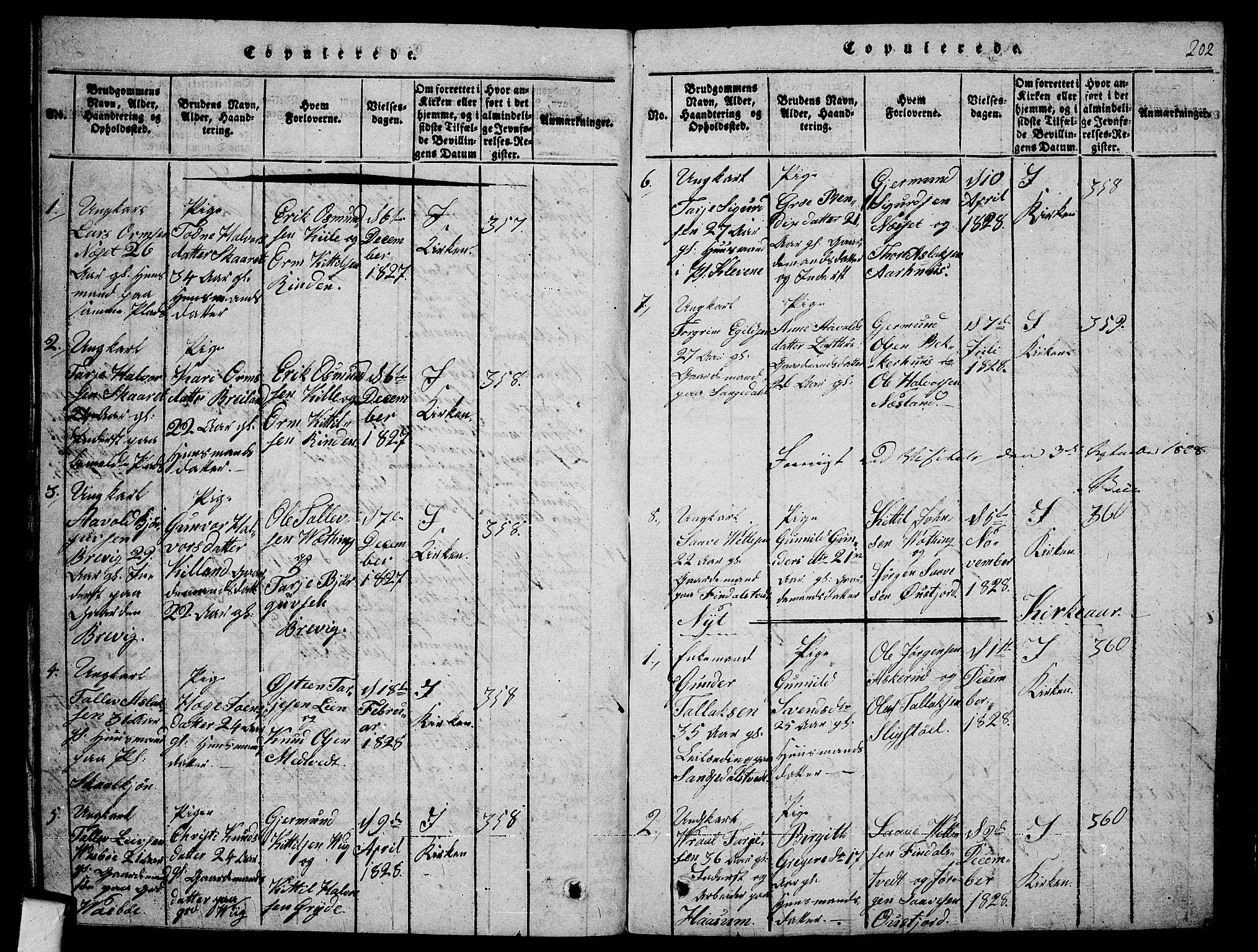 SAKO, Fyresdal kirkebøker, G/Ga/L0001: Klokkerbok nr. I 1, 1816-1840, s. 202