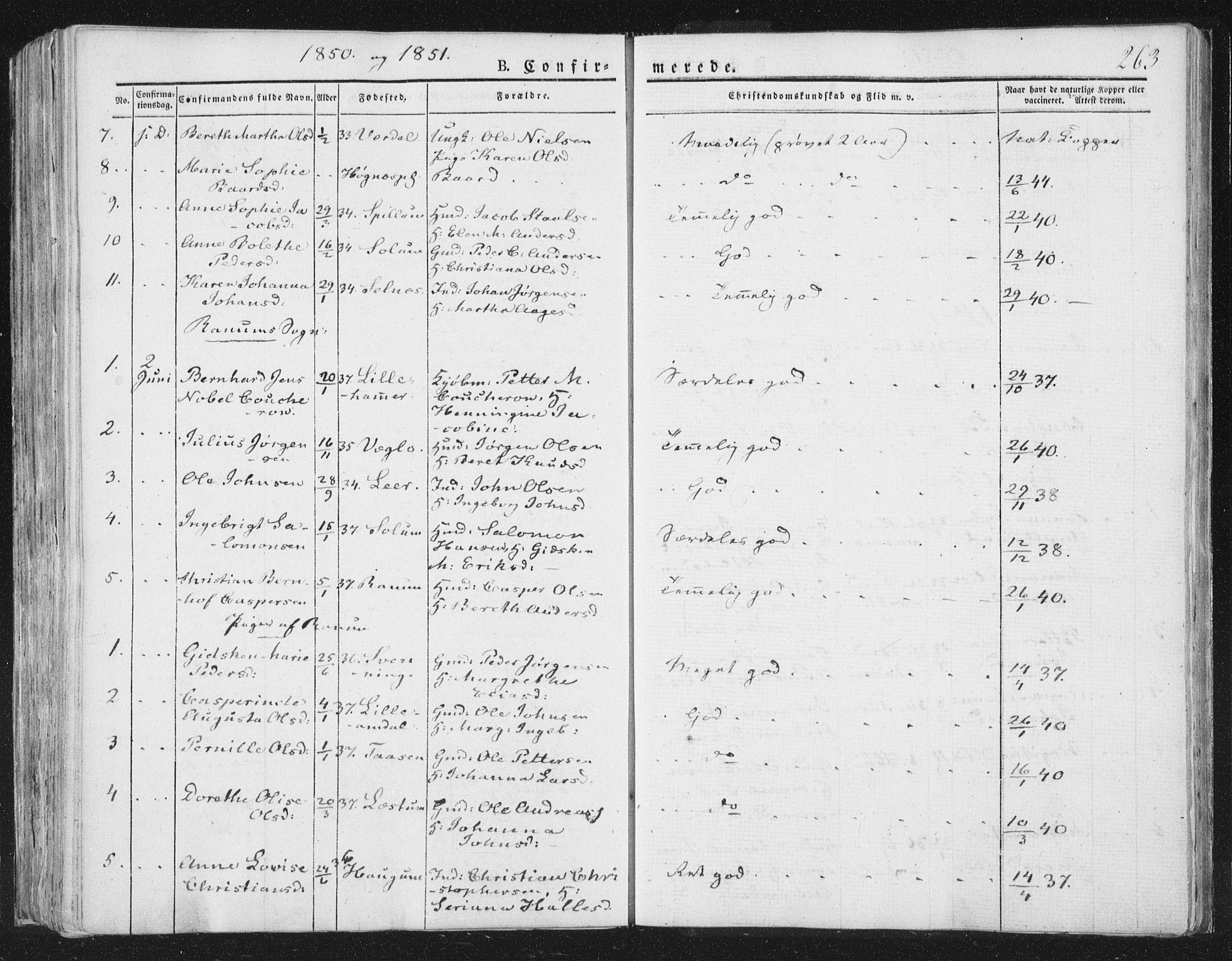 SAT, Ministerialprotokoller, klokkerbøker og fødselsregistre - Nord-Trøndelag, 764/L0551: Ministerialbok nr. 764A07a, 1824-1864, s. 263