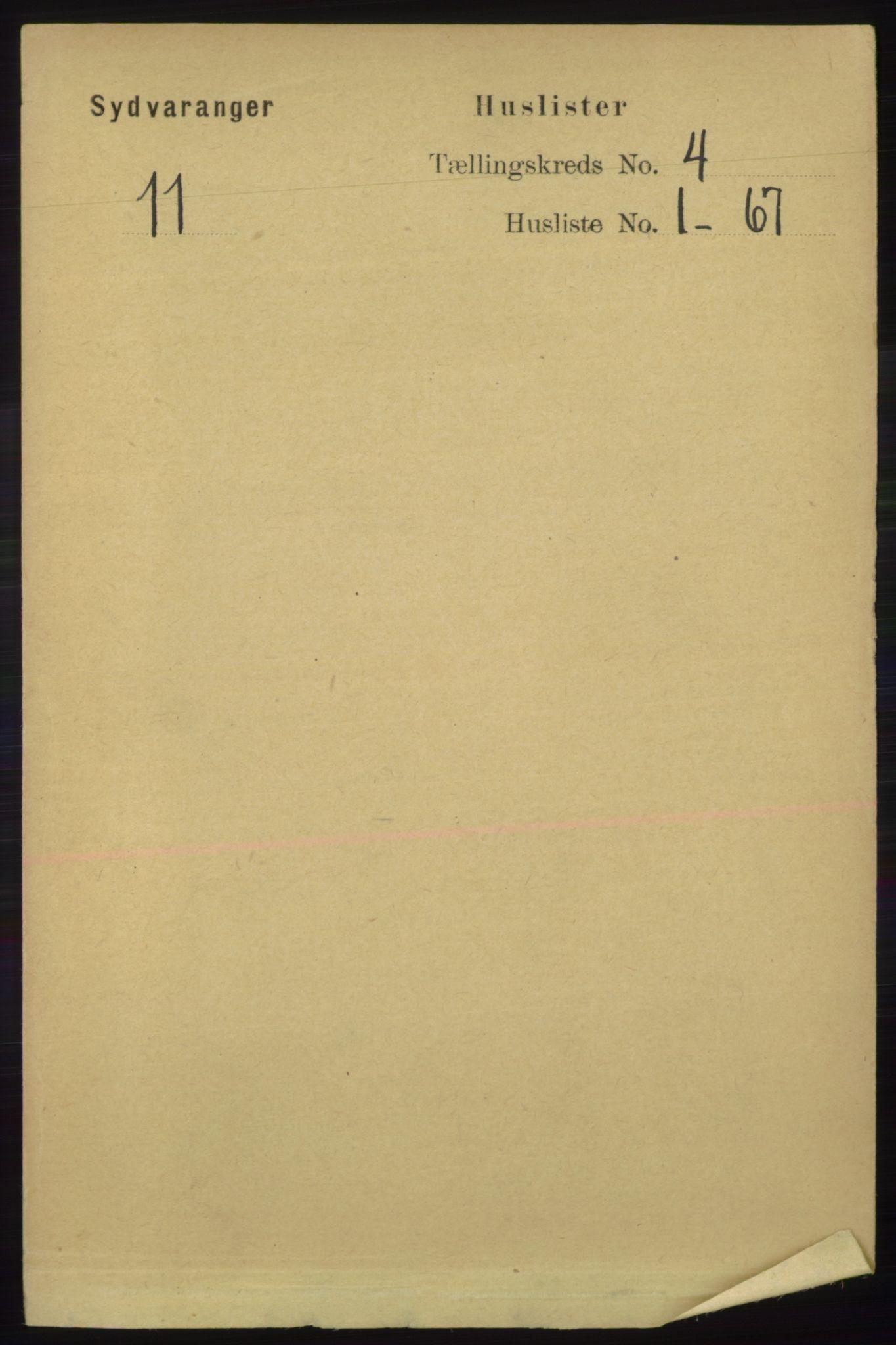 RA, Folketelling 1891 for 2030 Sør-Varanger herred, 1891, s. 1009