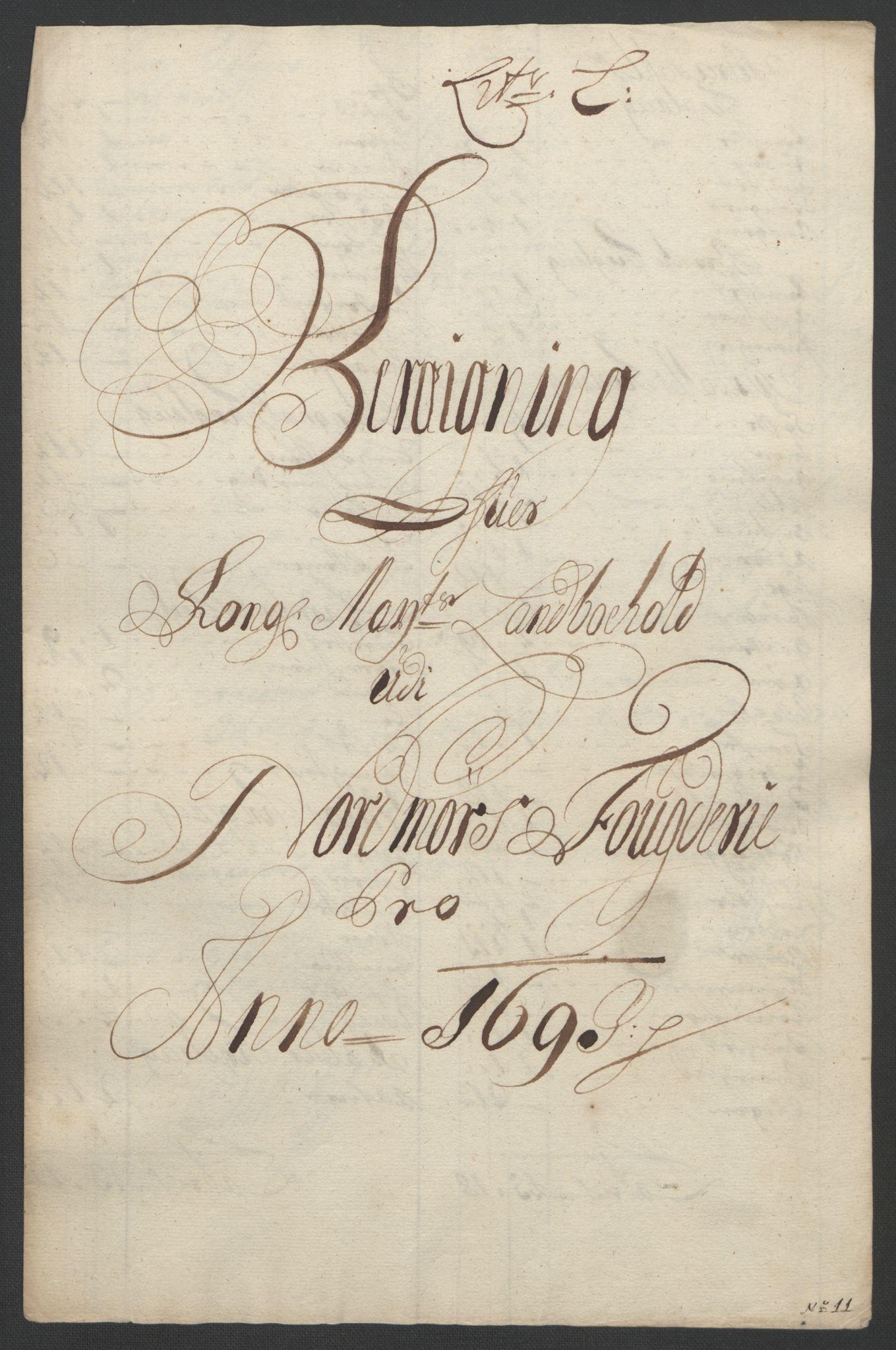 RA, Rentekammeret inntil 1814, Reviderte regnskaper, Fogderegnskap, R56/L3735: Fogderegnskap Nordmøre, 1692-1693, s. 373