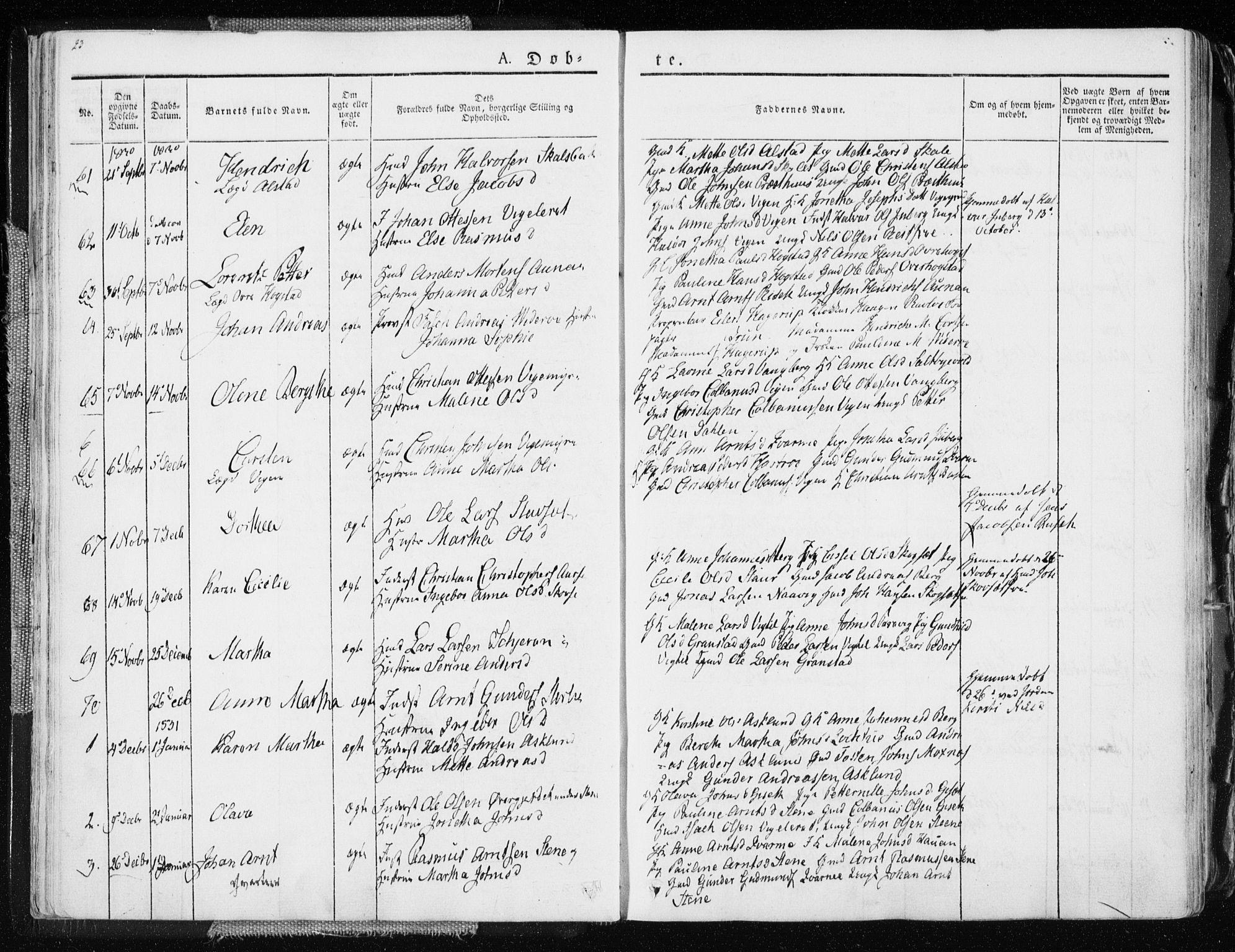 SAT, Ministerialprotokoller, klokkerbøker og fødselsregistre - Nord-Trøndelag, 713/L0114: Ministerialbok nr. 713A05, 1827-1839, s. 23