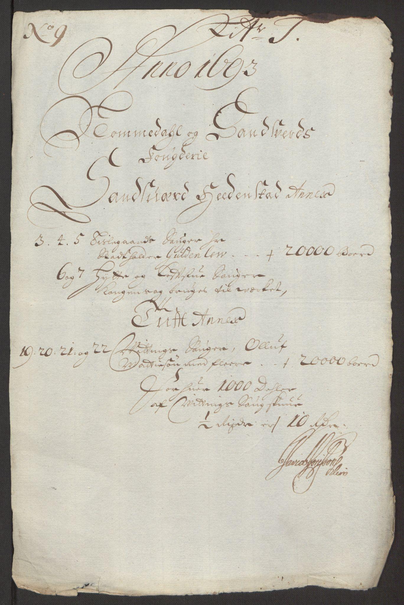 RA, Rentekammeret inntil 1814, Reviderte regnskaper, Fogderegnskap, R24/L1575: Fogderegnskap Numedal og Sandsvær, 1692-1695, s. 179