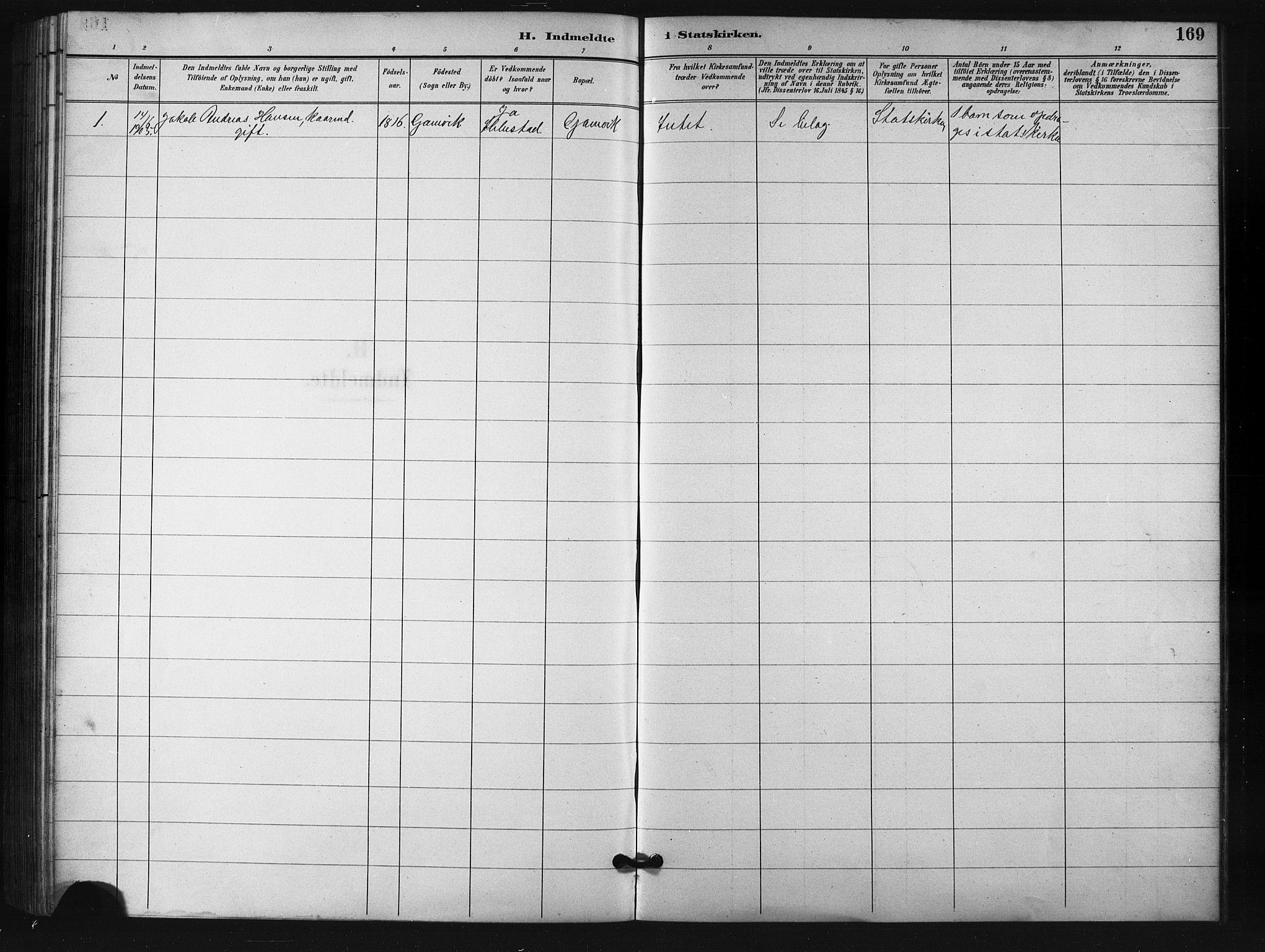 SATØ, Salangen sokneprestembete, H/Ha/L0001klokker: Klokkerbok nr. 1, 1893-1910, s. 169