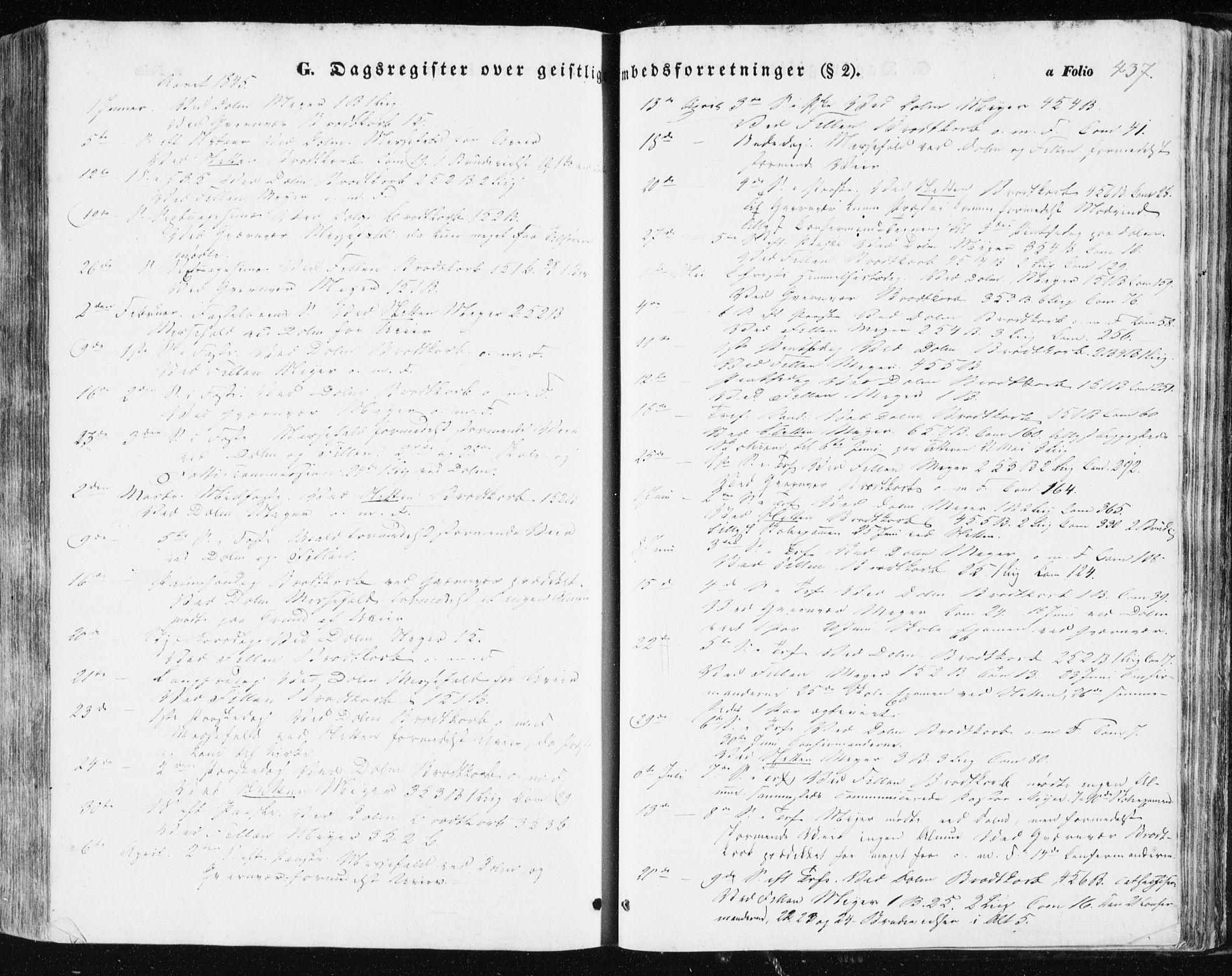 SAT, Ministerialprotokoller, klokkerbøker og fødselsregistre - Sør-Trøndelag, 634/L0529: Ministerialbok nr. 634A05, 1843-1851, s. 437