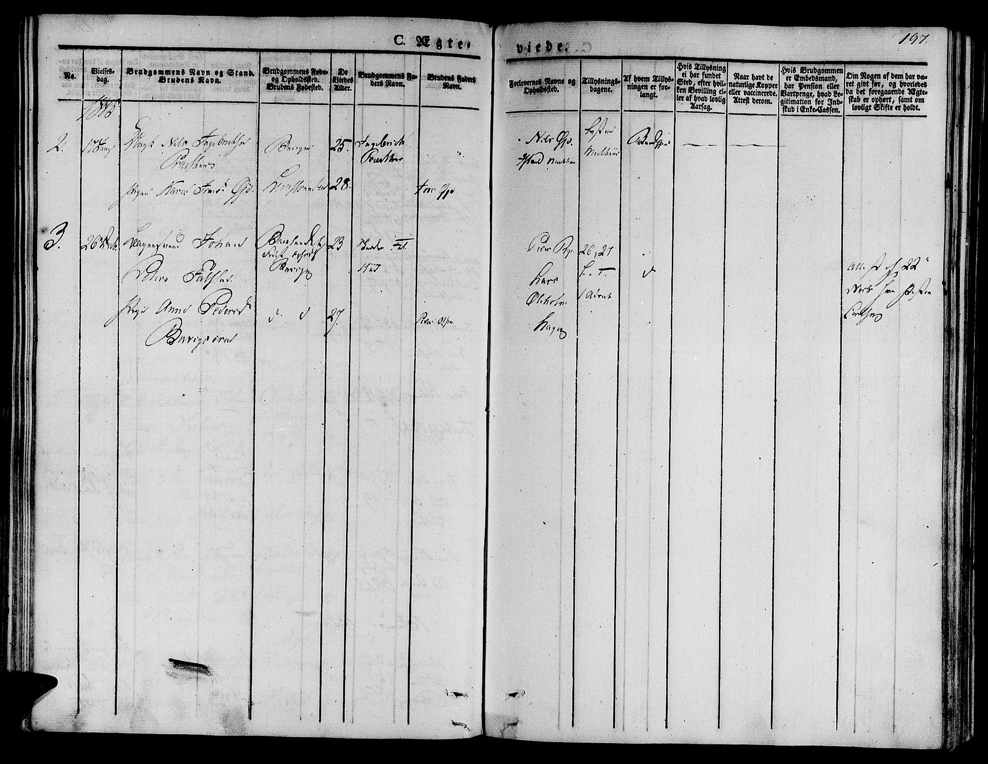 SAT, Ministerialprotokoller, klokkerbøker og fødselsregistre - Sør-Trøndelag, 612/L0375: Ministerialbok nr. 612A07 /2, 1829-1845, s. 197