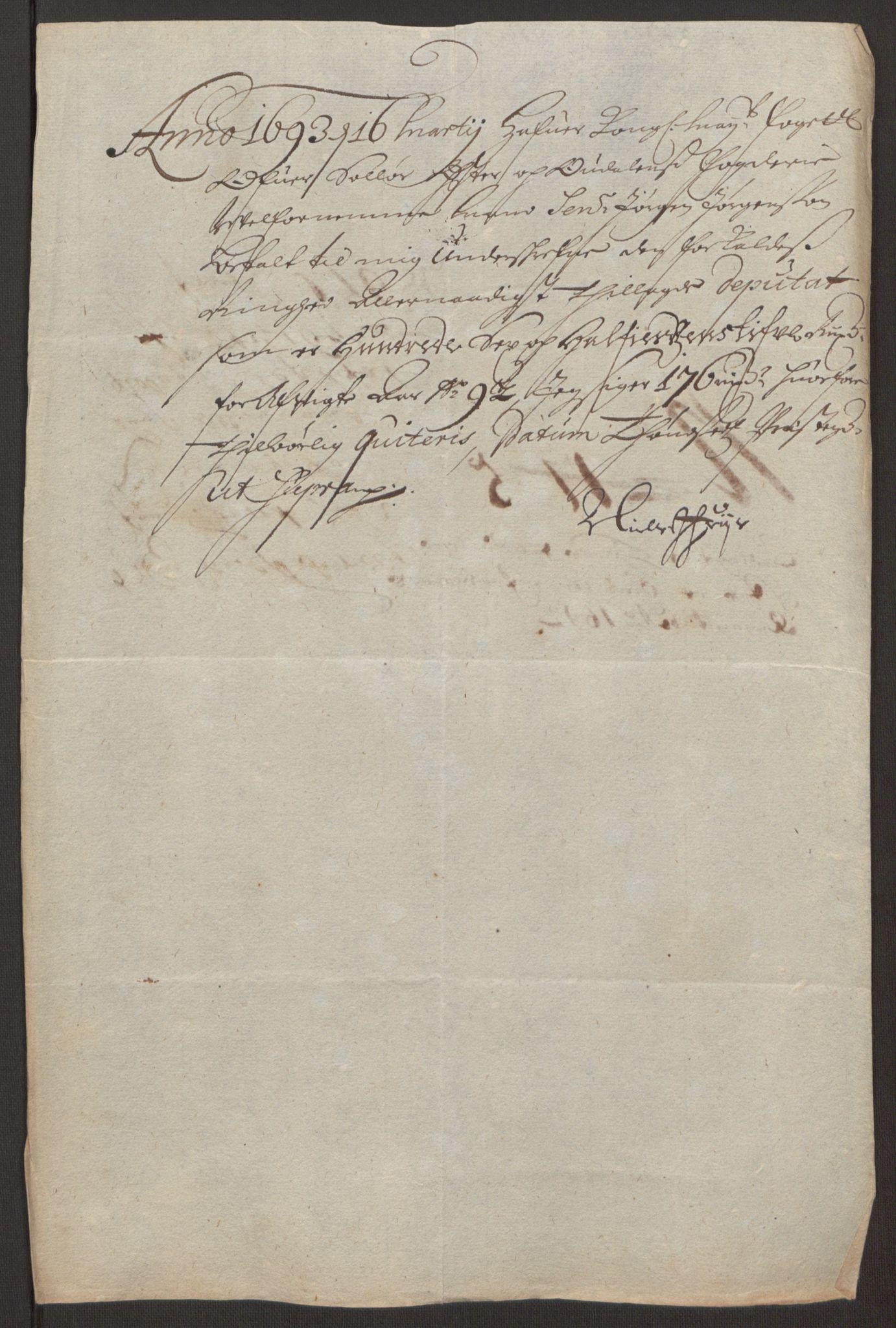 RA, Rentekammeret inntil 1814, Reviderte regnskaper, Fogderegnskap, R13/L0830: Fogderegnskap Solør, Odal og Østerdal, 1692, s. 421