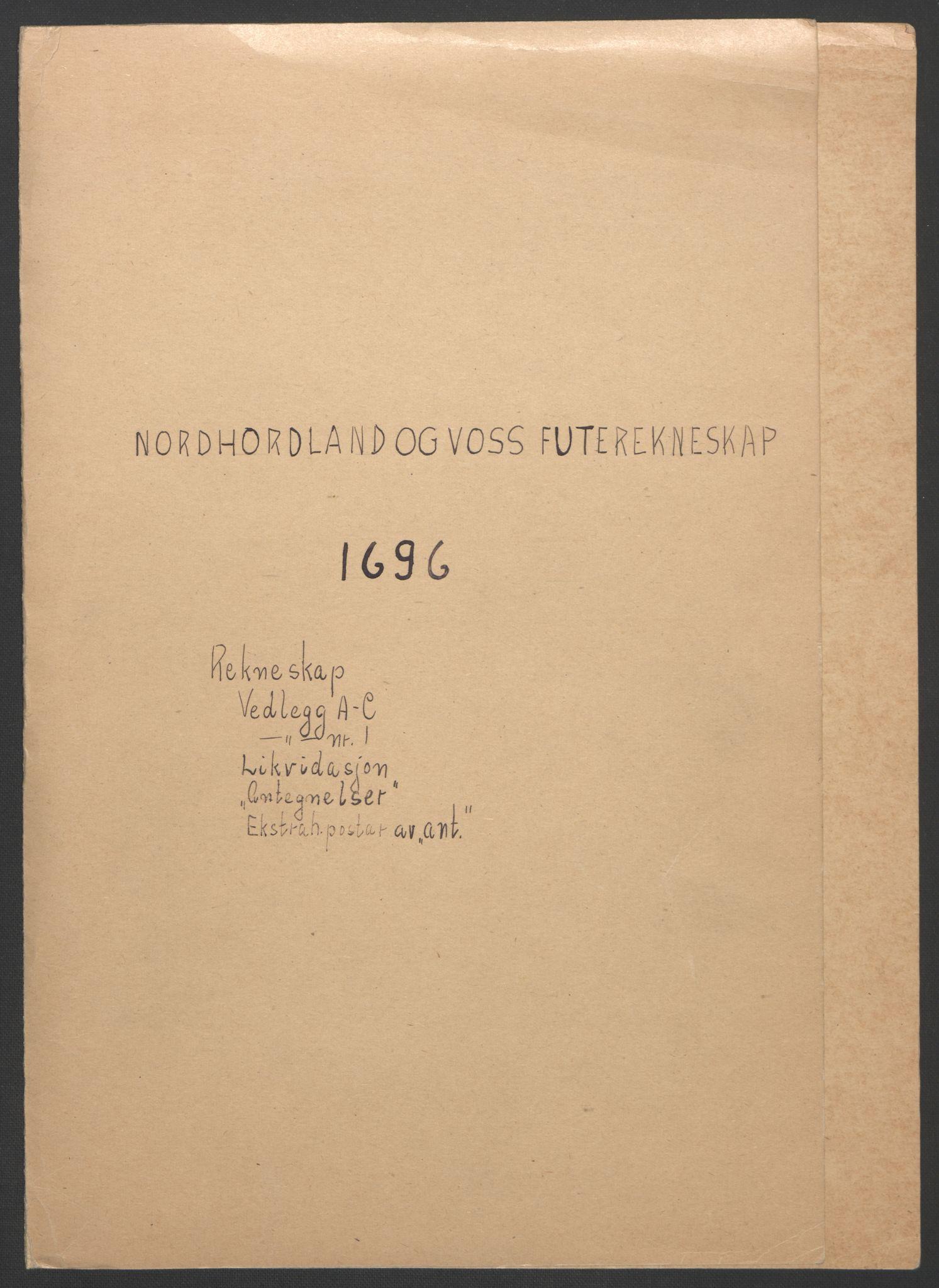 RA, Rentekammeret inntil 1814, Reviderte regnskaper, Fogderegnskap, R51/L3183: Fogderegnskap Nordhordland og Voss, 1695-1697, s. 136