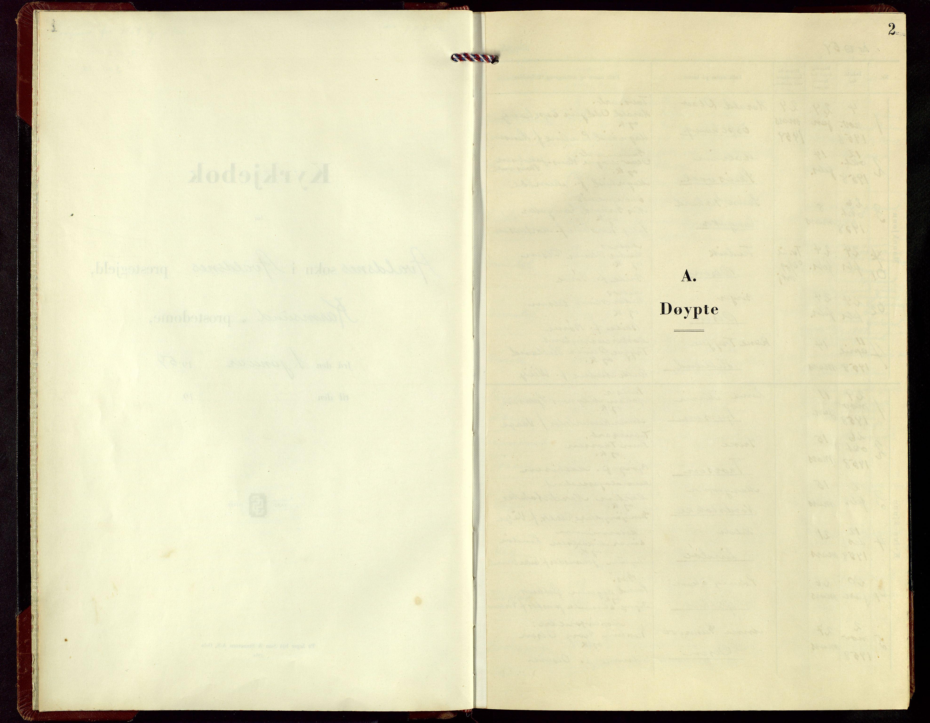 SAST, Avaldsnes sokneprestkontor, H/Ha/Hab/L0010: Klokkerbok nr. B 10, 1956-1973, s. 2