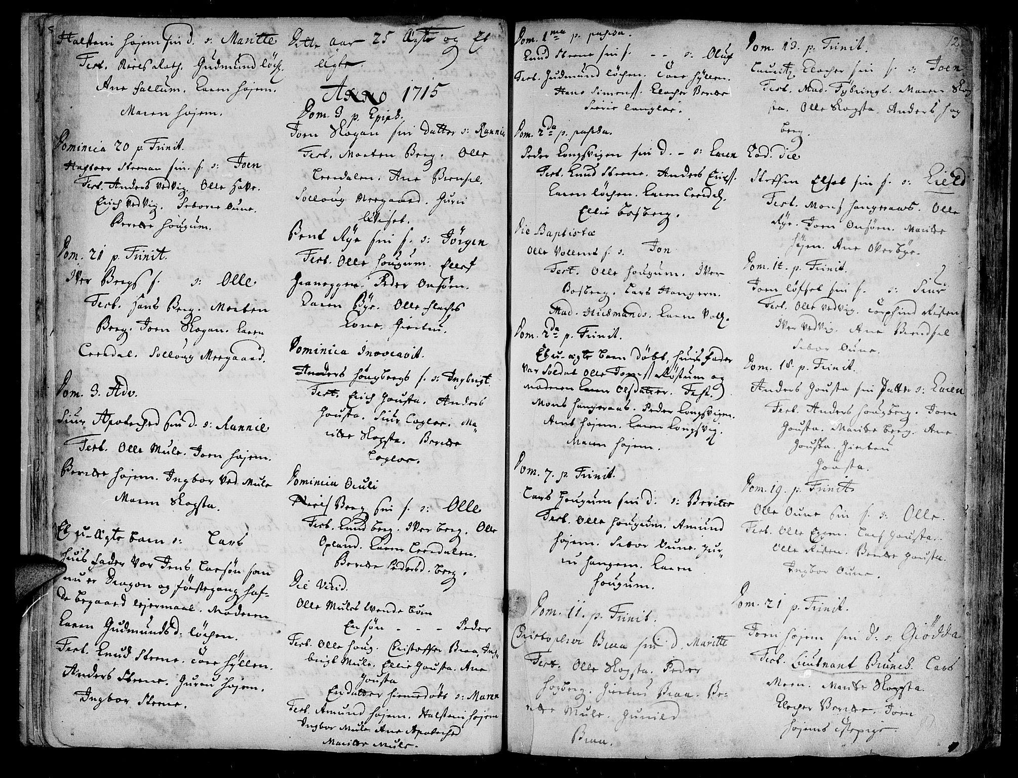 SAT, Ministerialprotokoller, klokkerbøker og fødselsregistre - Sør-Trøndelag, 612/L0368: Ministerialbok nr. 612A02, 1702-1753, s. 12
