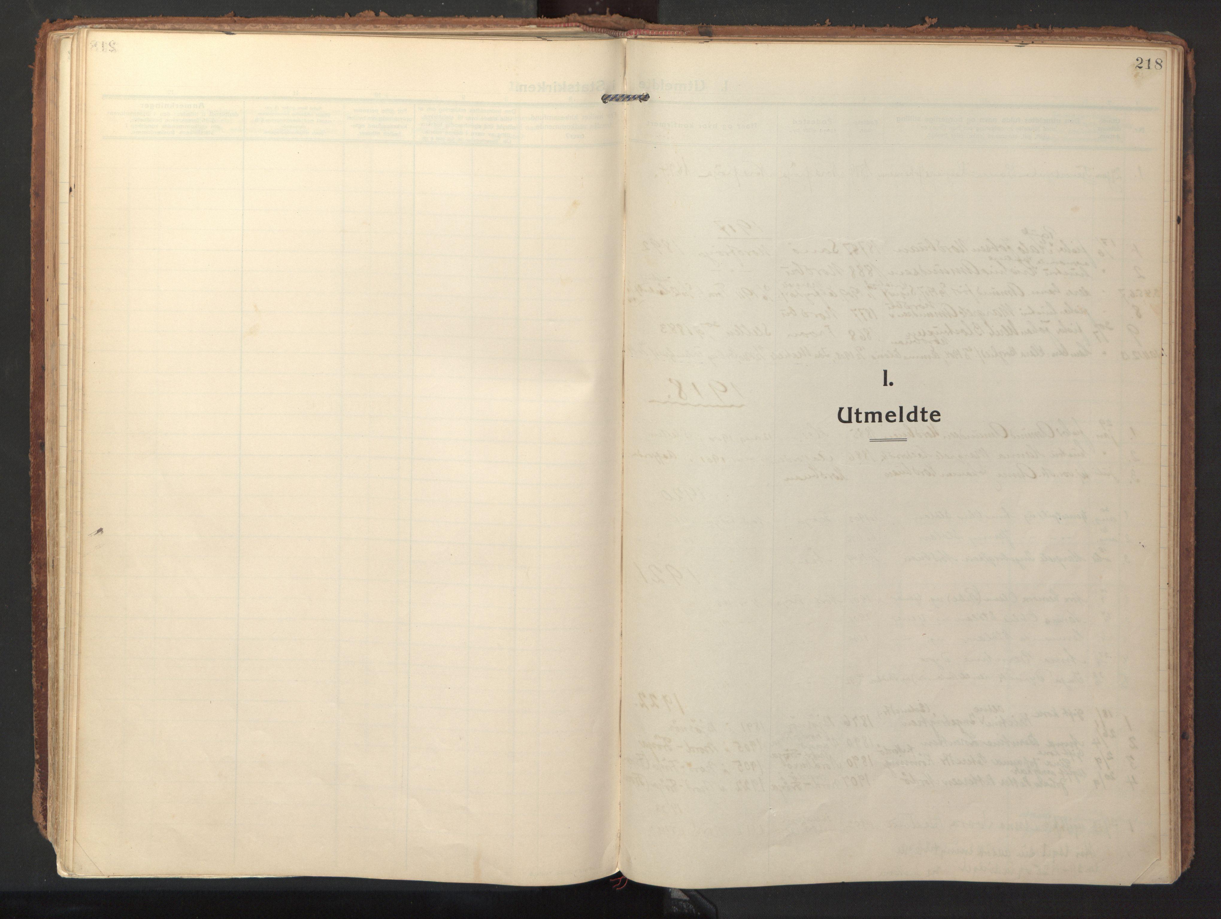 SAT, Ministerialprotokoller, klokkerbøker og fødselsregistre - Sør-Trøndelag, 640/L0581: Ministerialbok nr. 640A06, 1910-1924, s. 218