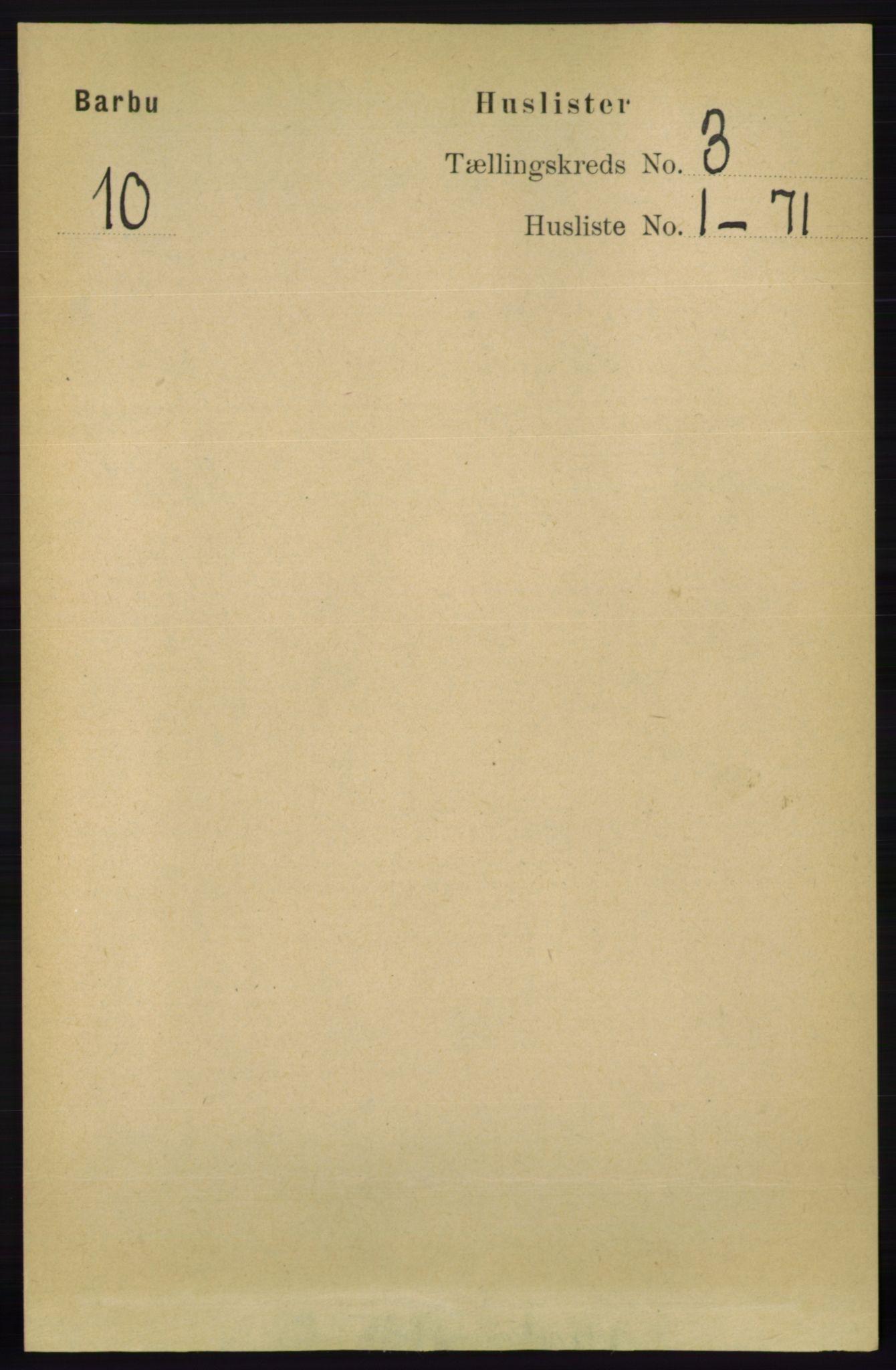 RA, Folketelling 1891 for 0990 Barbu herred, 1891, s. 1389