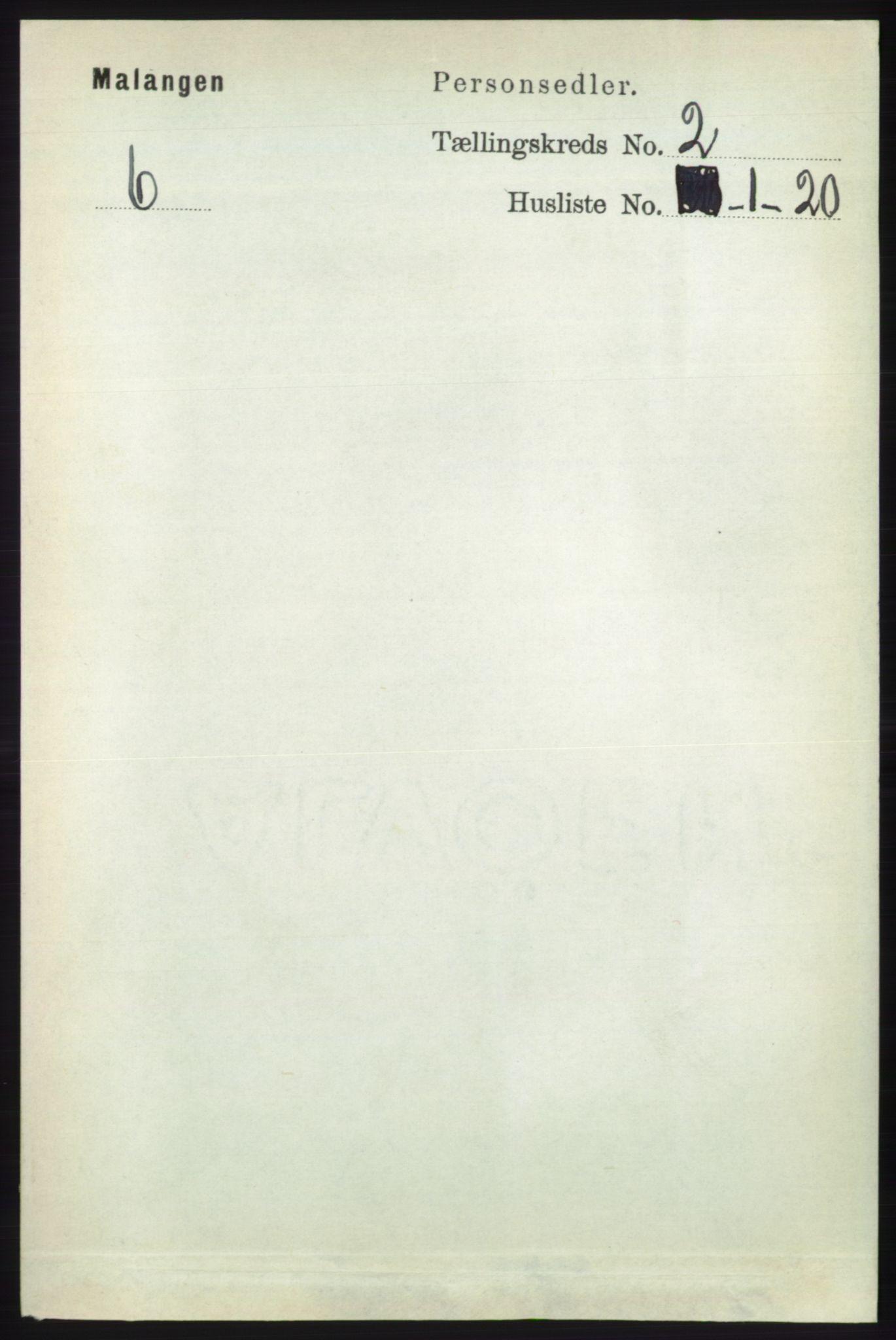 RA, Folketelling 1891 for 1932 Malangen herred, 1891, s. 442