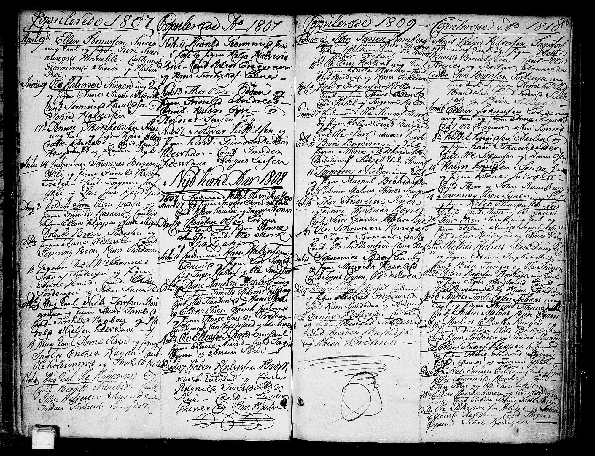 SAKO, Heddal kirkebøker, F/Fa/L0004: Ministerialbok nr. I 4, 1784-1814, s. 170