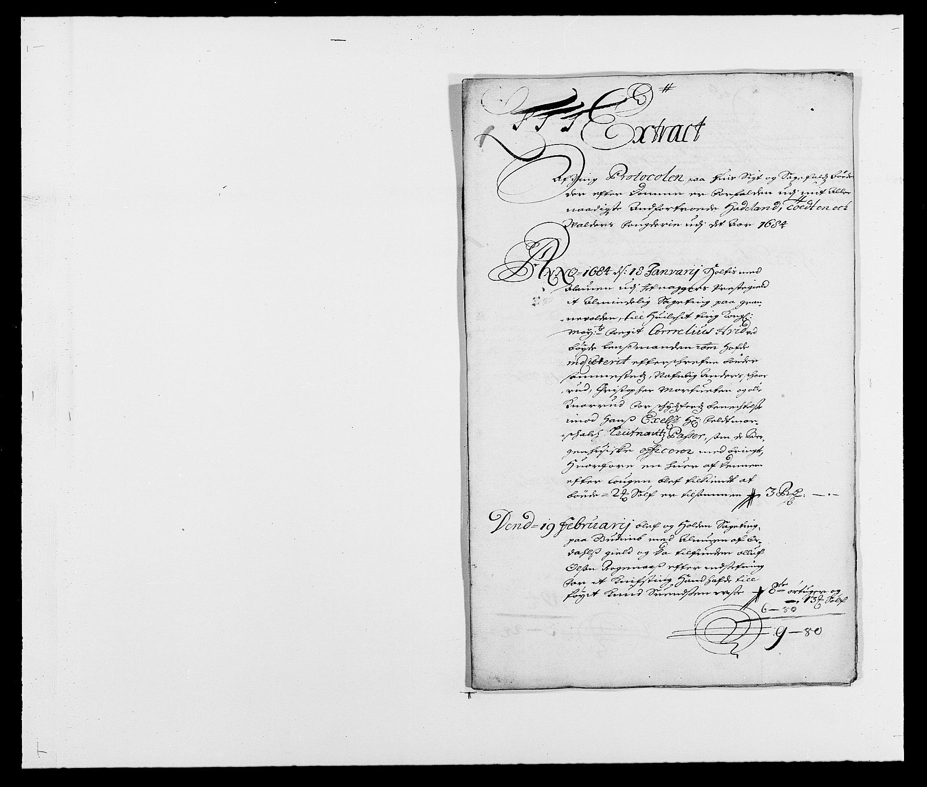 RA, Rentekammeret inntil 1814, Reviderte regnskaper, Fogderegnskap, R18/L1283: Fogderegnskap Hadeland, Toten og Valdres, 1684, s. 186
