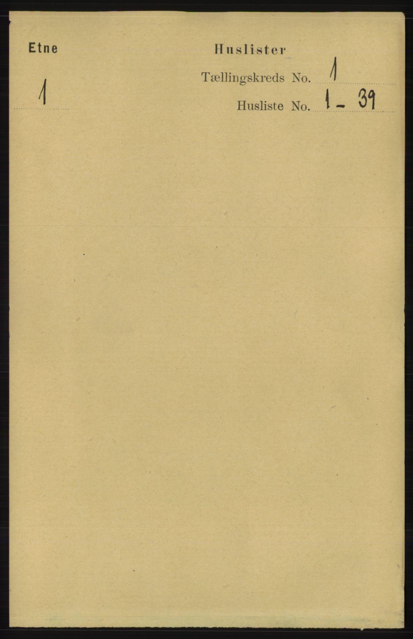 RA, Folketelling 1891 for 1211 Etne herred, 1891, s. 39