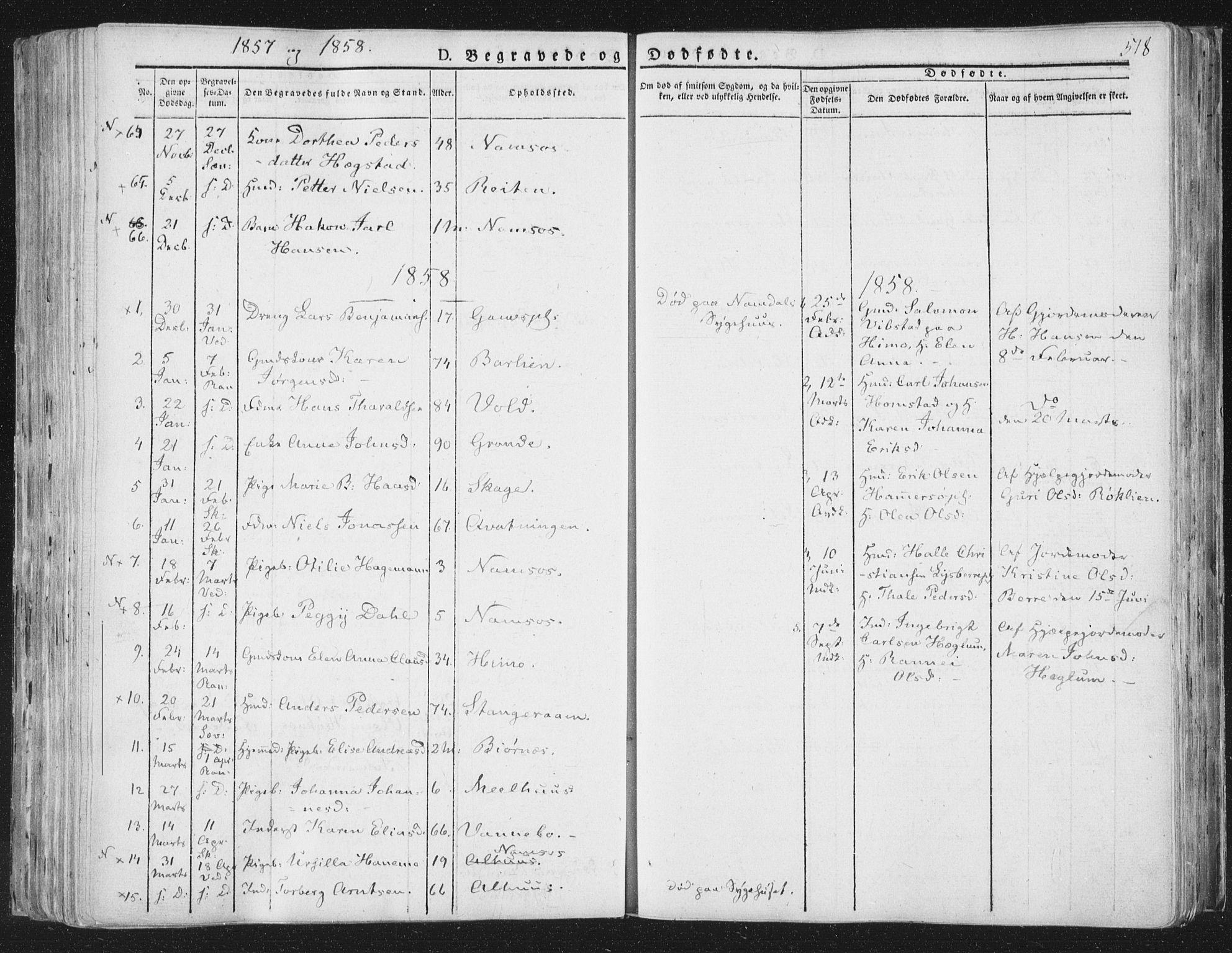 SAT, Ministerialprotokoller, klokkerbøker og fødselsregistre - Nord-Trøndelag, 764/L0552: Ministerialbok nr. 764A07b, 1824-1865, s. 518