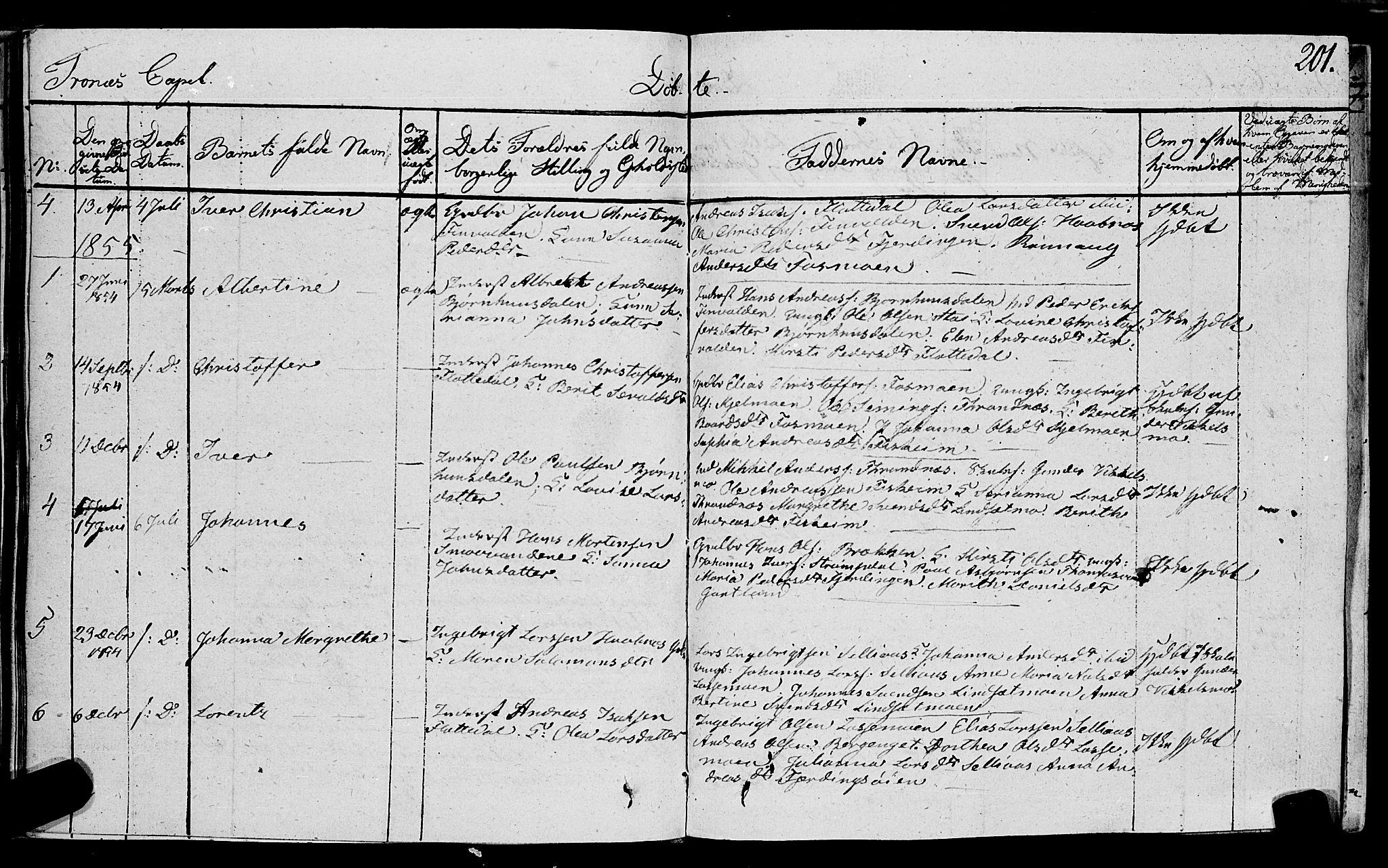 SAT, Ministerialprotokoller, klokkerbøker og fødselsregistre - Nord-Trøndelag, 762/L0538: Ministerialbok nr. 762A02 /2, 1833-1879, s. 201