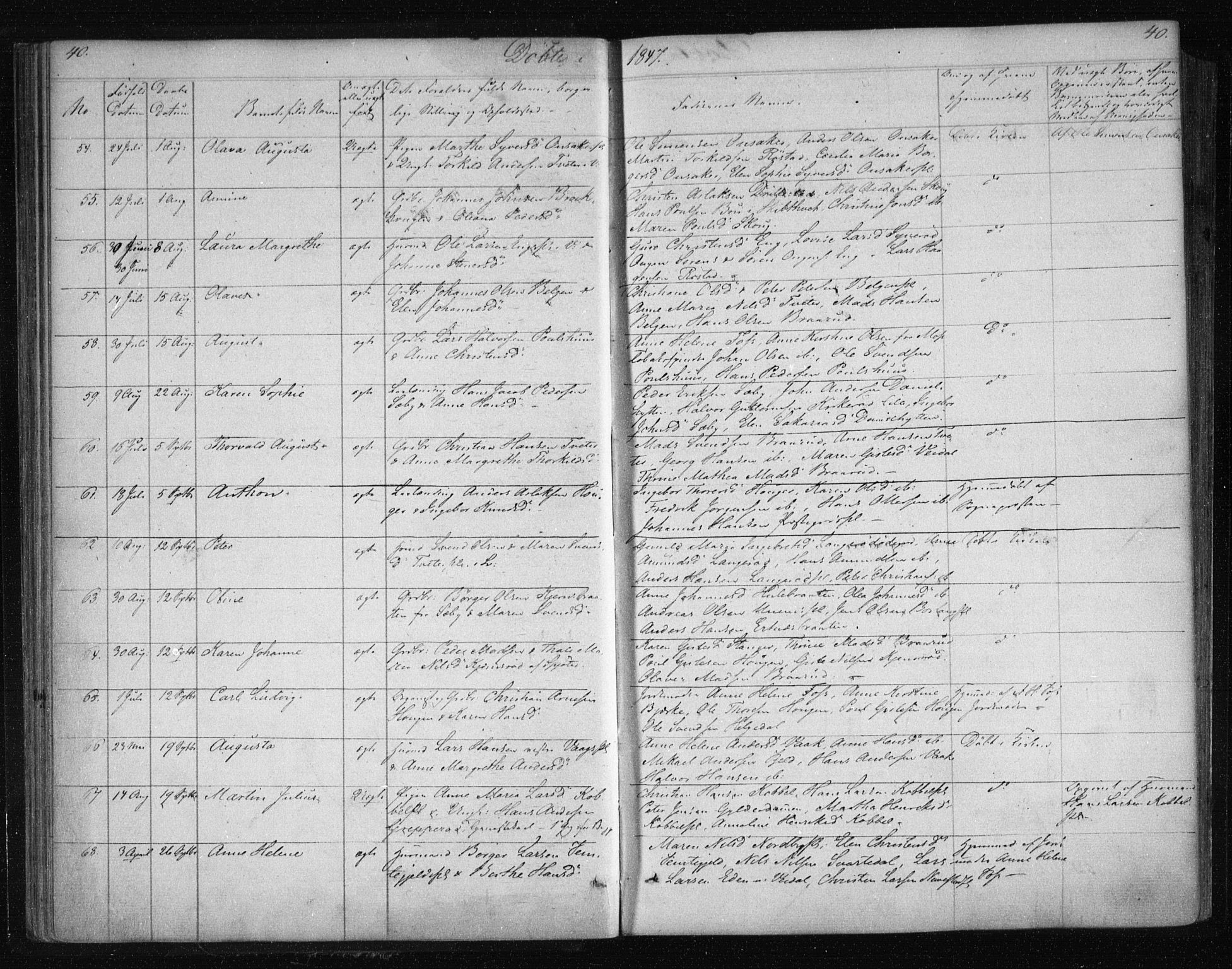 SAO, Våler prestekontor Kirkebøker, F/Fa/L0006: Ministerialbok nr. I 6, 1840-1861, s. 40