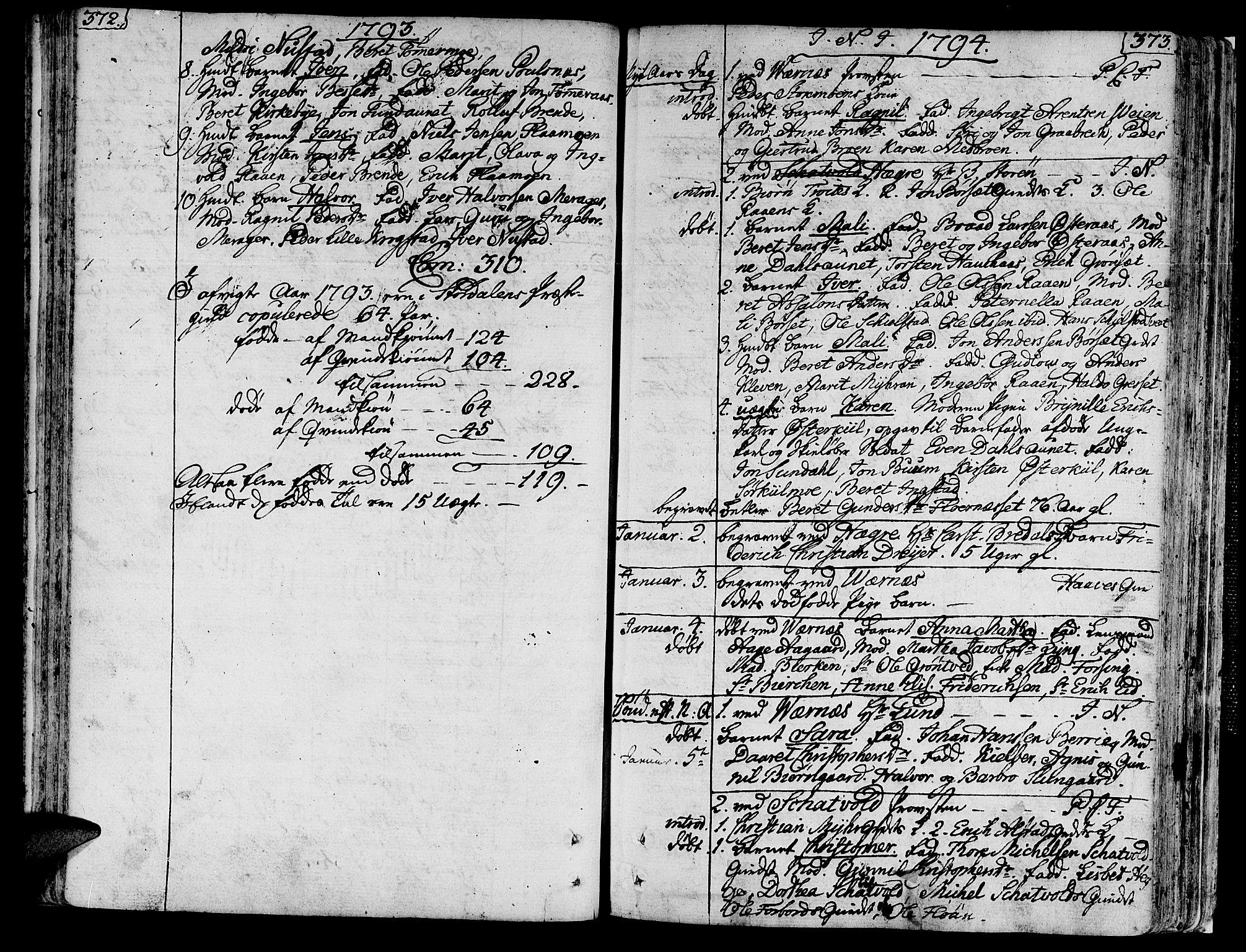 SAT, Ministerialprotokoller, klokkerbøker og fødselsregistre - Nord-Trøndelag, 709/L0059: Ministerialbok nr. 709A06, 1781-1797, s. 372-373