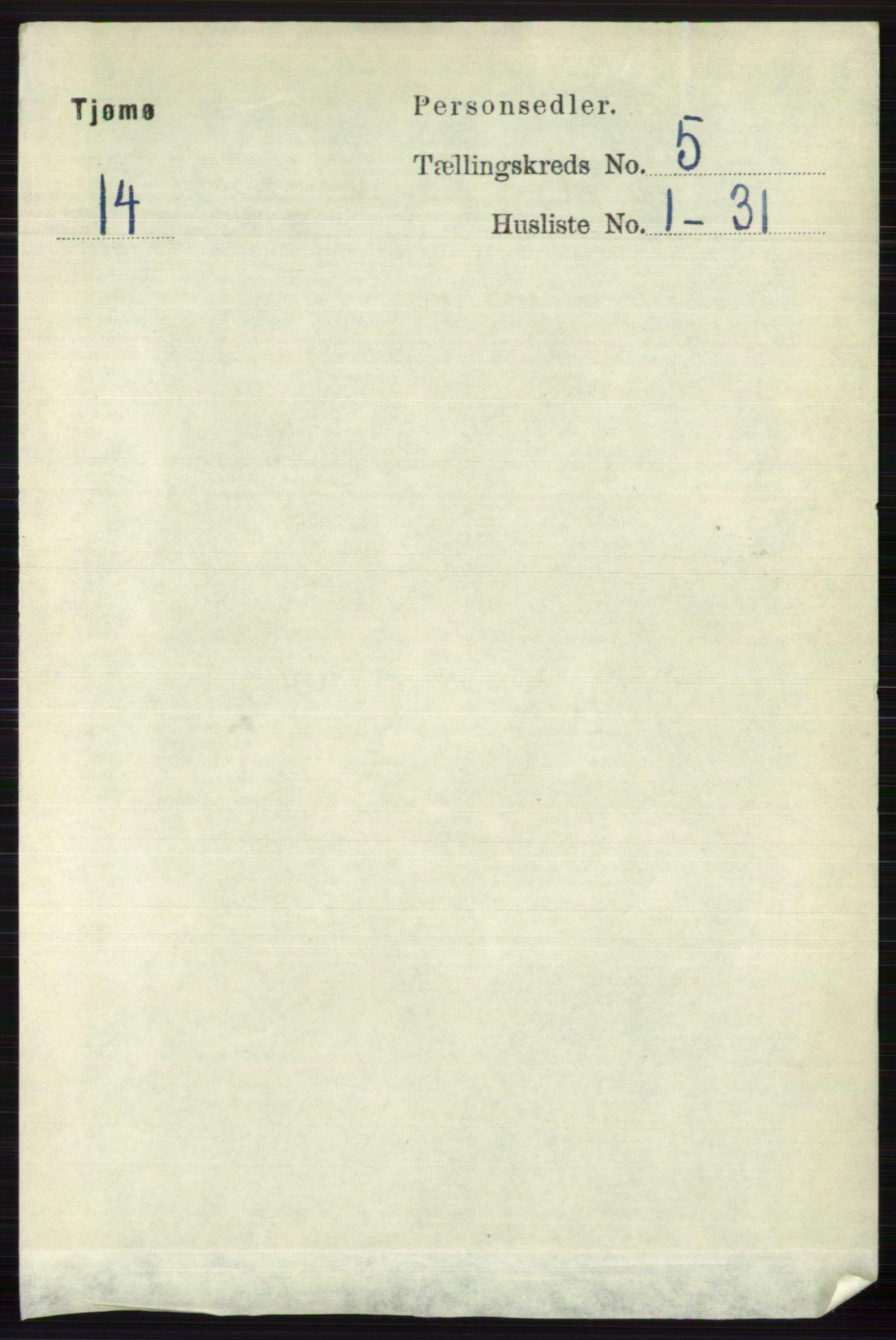 RA, Folketelling 1891 for 0723 Tjøme herred, 1891, s. 1667