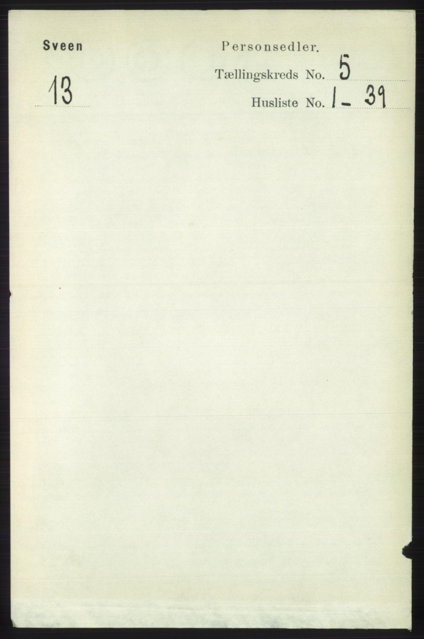RA, Folketelling 1891 for 1216 Sveio herred, 1891, s. 1450