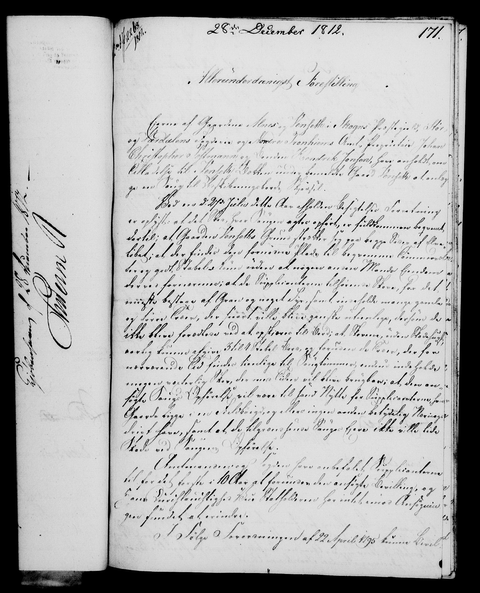RA, Rentekammeret, Kammerkanselliet, G/Gf/Gfa/L0094: Norsk relasjons- og resolusjonsprotokoll (merket RK 52.94), 1812, s. 645