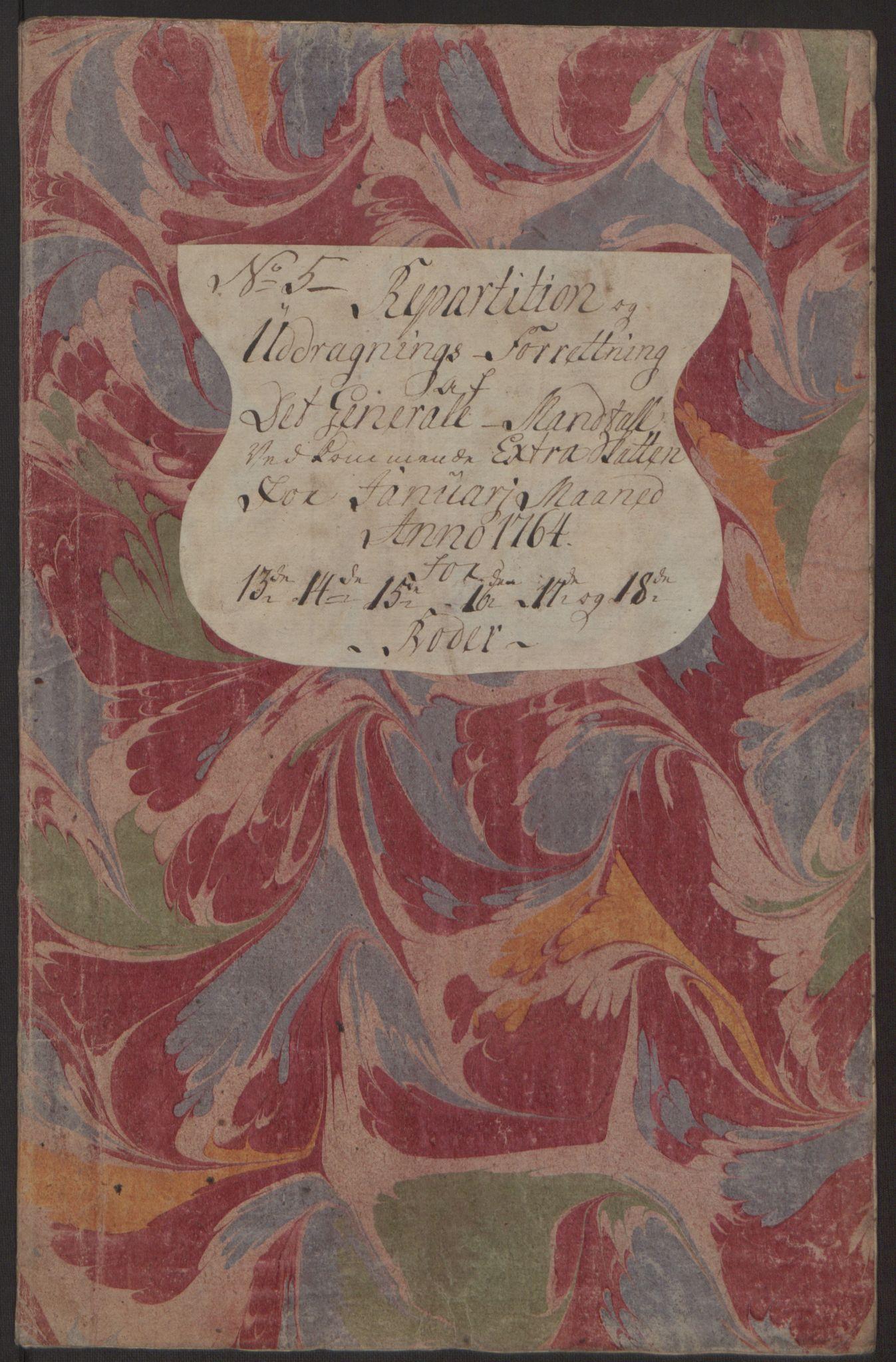 RA, Rentekammeret inntil 1814, Reviderte regnskaper, Byregnskaper, R/Rp/L0368: [P21] Kontribusjonsregnskap, 1764, s. 40