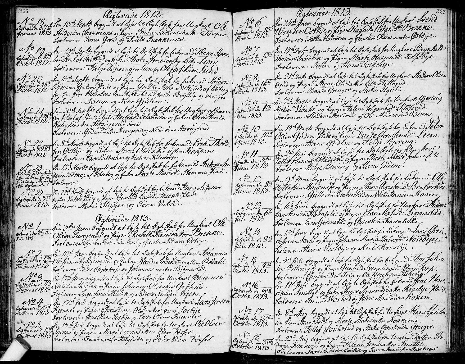 SAO, Rakkestad prestekontor Kirkebøker, F/Fa/L0005: Ministerialbok nr. I 5, 1784-1814, s. 322-323