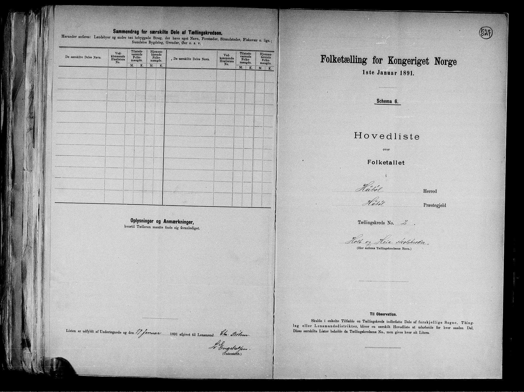 RA, Folketelling 1891 for 0138 Hobøl herred, 1891, s. 8