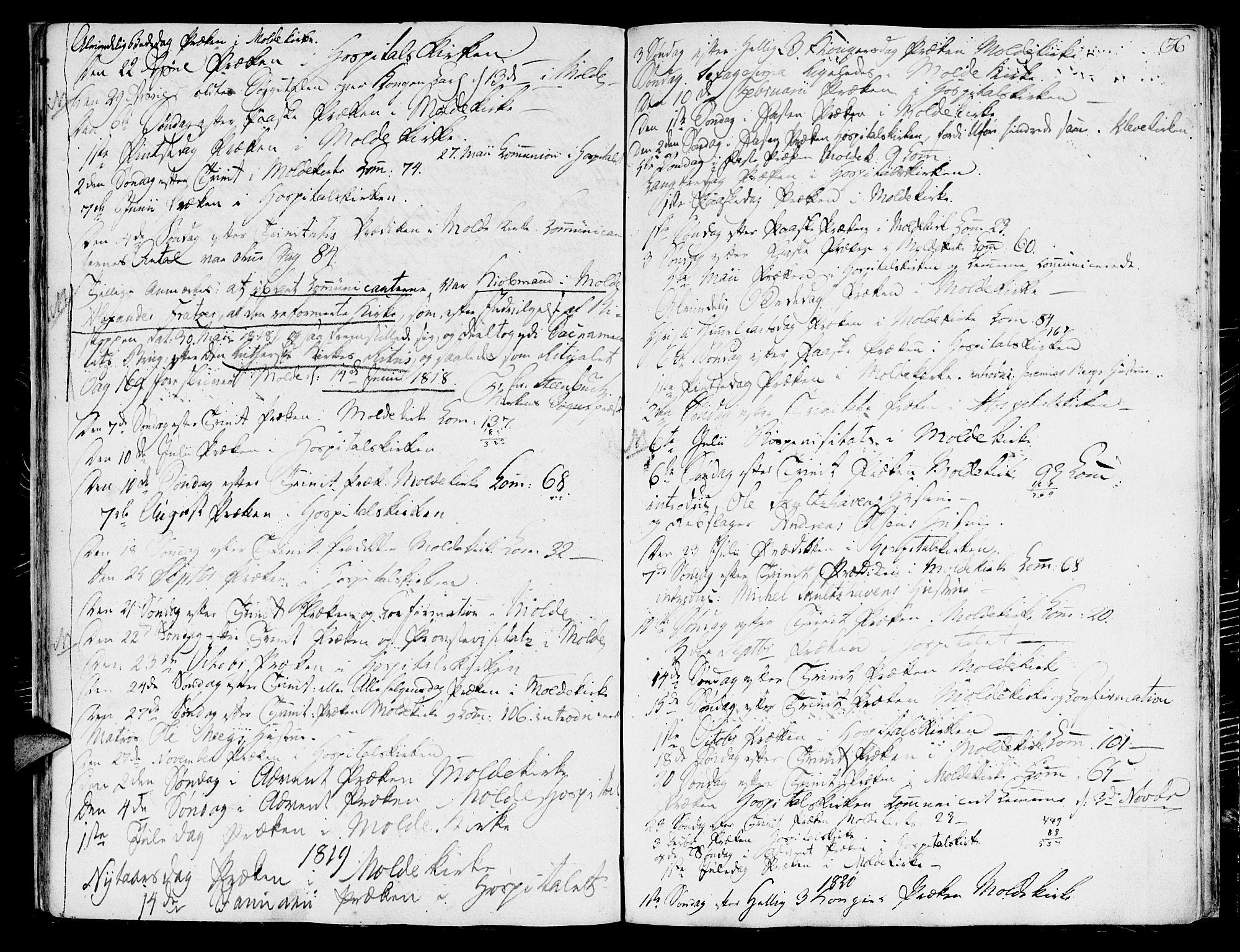 SAT, Ministerialprotokoller, klokkerbøker og fødselsregistre - Møre og Romsdal, 558/L0687: Ministerialbok nr. 558A01, 1798-1818, s. 36