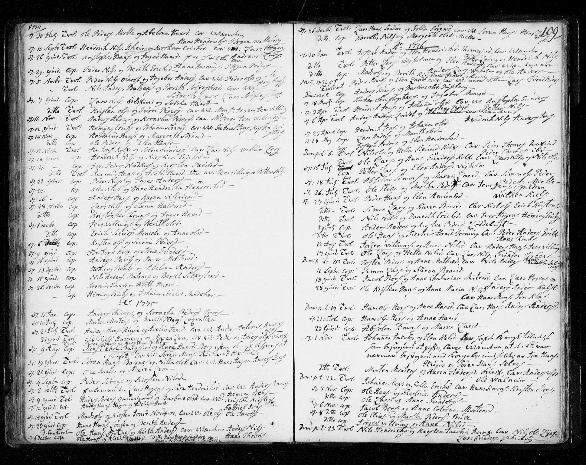 SATØ, Tromsø sokneprestkontor/stiftsprosti/domprosti, G/Ga/L0002kirke: Ministerialbok nr. 2, 1753-1778, s. 109