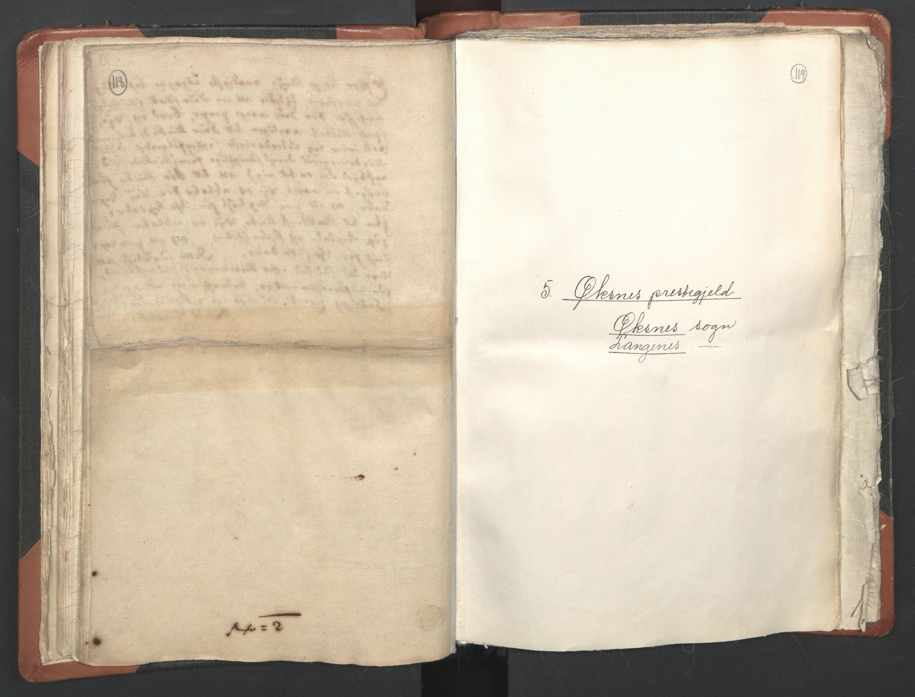 RA, Sogneprestenes manntall 1664-1666, nr. 36: Lofoten og Vesterålen prosti, Senja prosti og Troms prosti, 1664-1666, s. 118-119