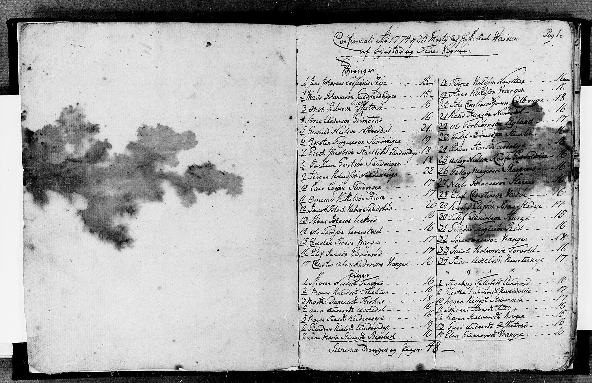 SAK, Øyestad sokneprestkontor, F/Fa/L0010: Ministerialbok nr. A 10, 1774-1810, s. 0-1