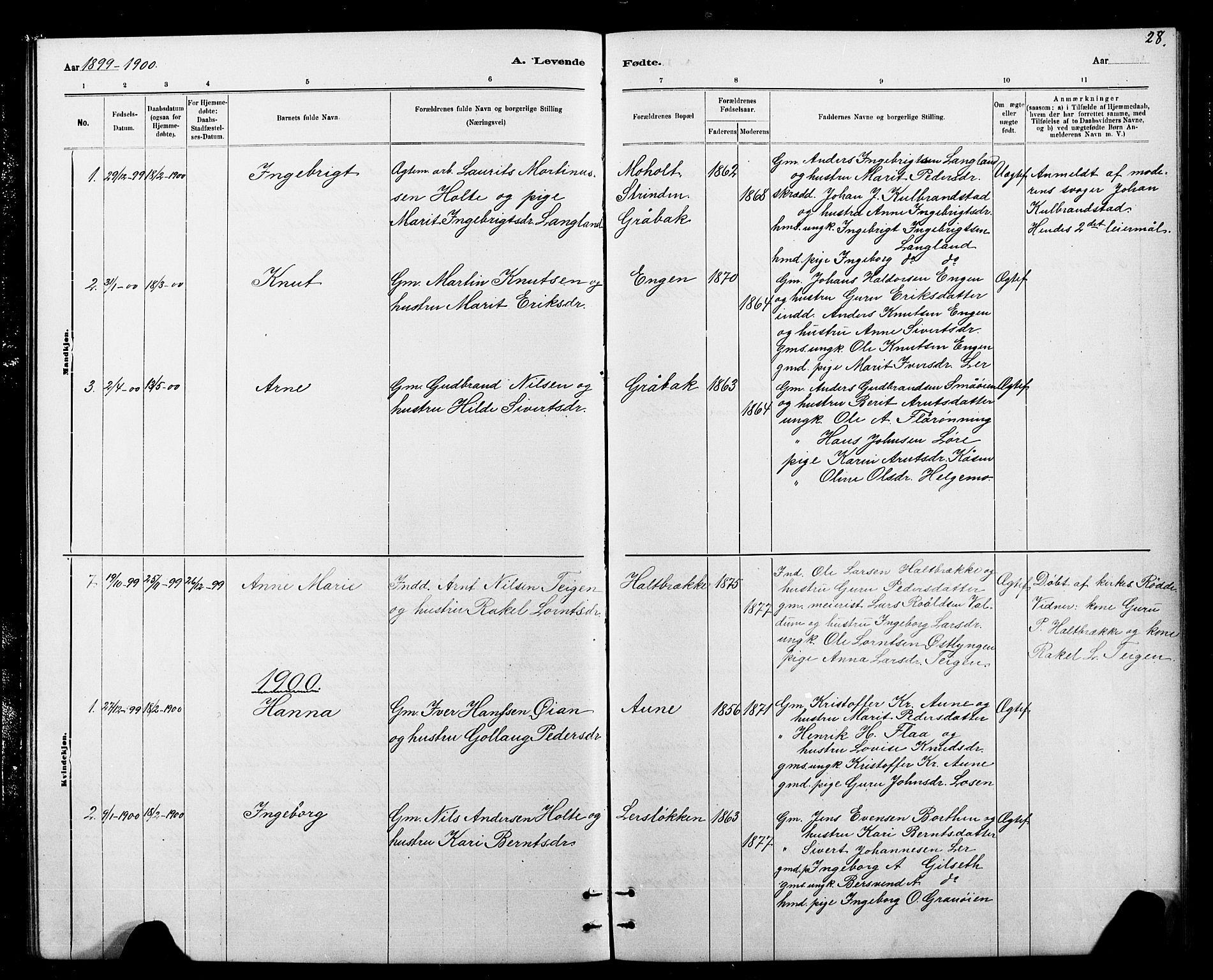 SAT, Ministerialprotokoller, klokkerbøker og fødselsregistre - Sør-Trøndelag, 693/L1123: Klokkerbok nr. 693C04, 1887-1910, s. 28