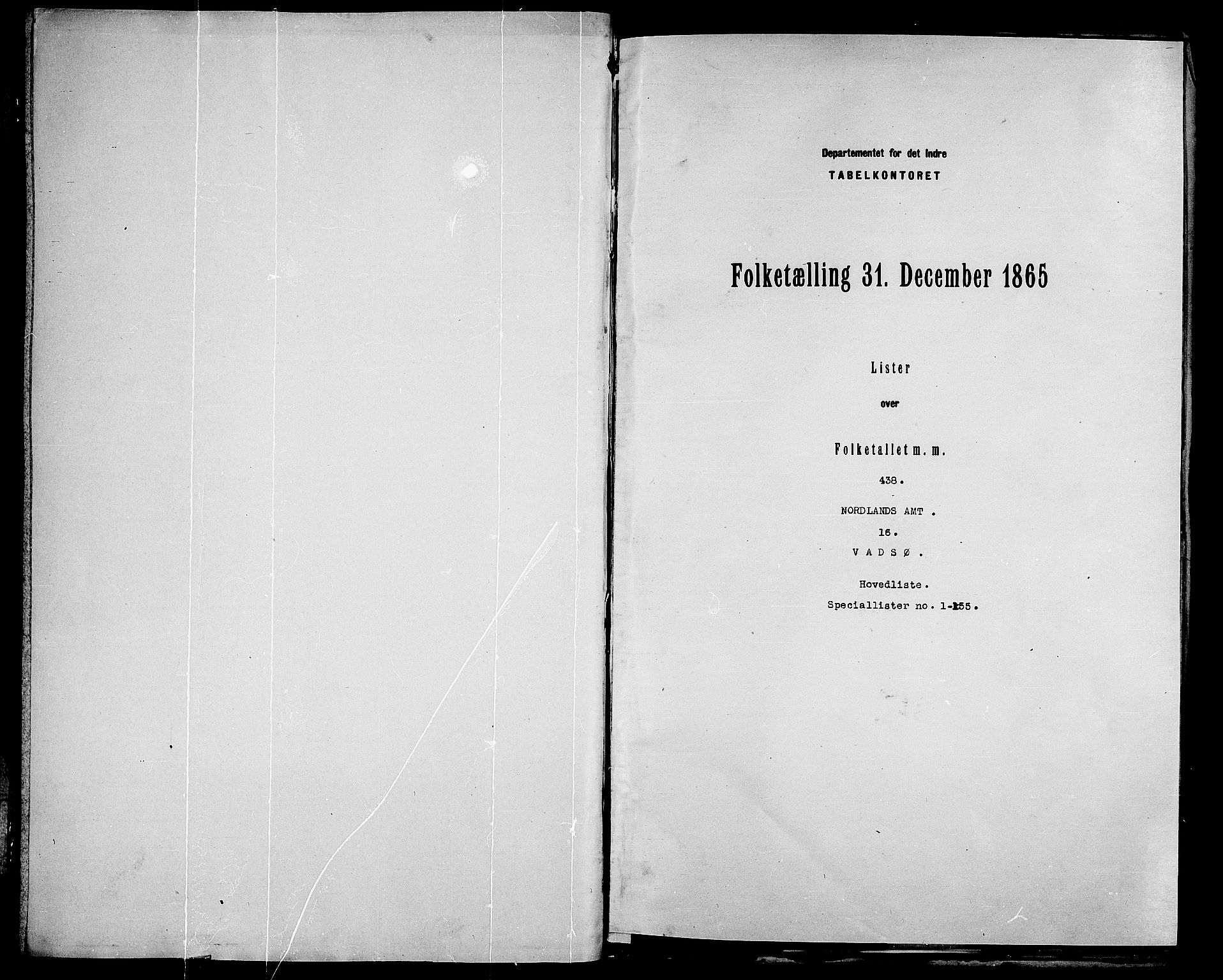 RA, Folketelling 1865 for 2003B Vadsø prestegjeld, Vadsø kjøpstad, 1865, s. 3