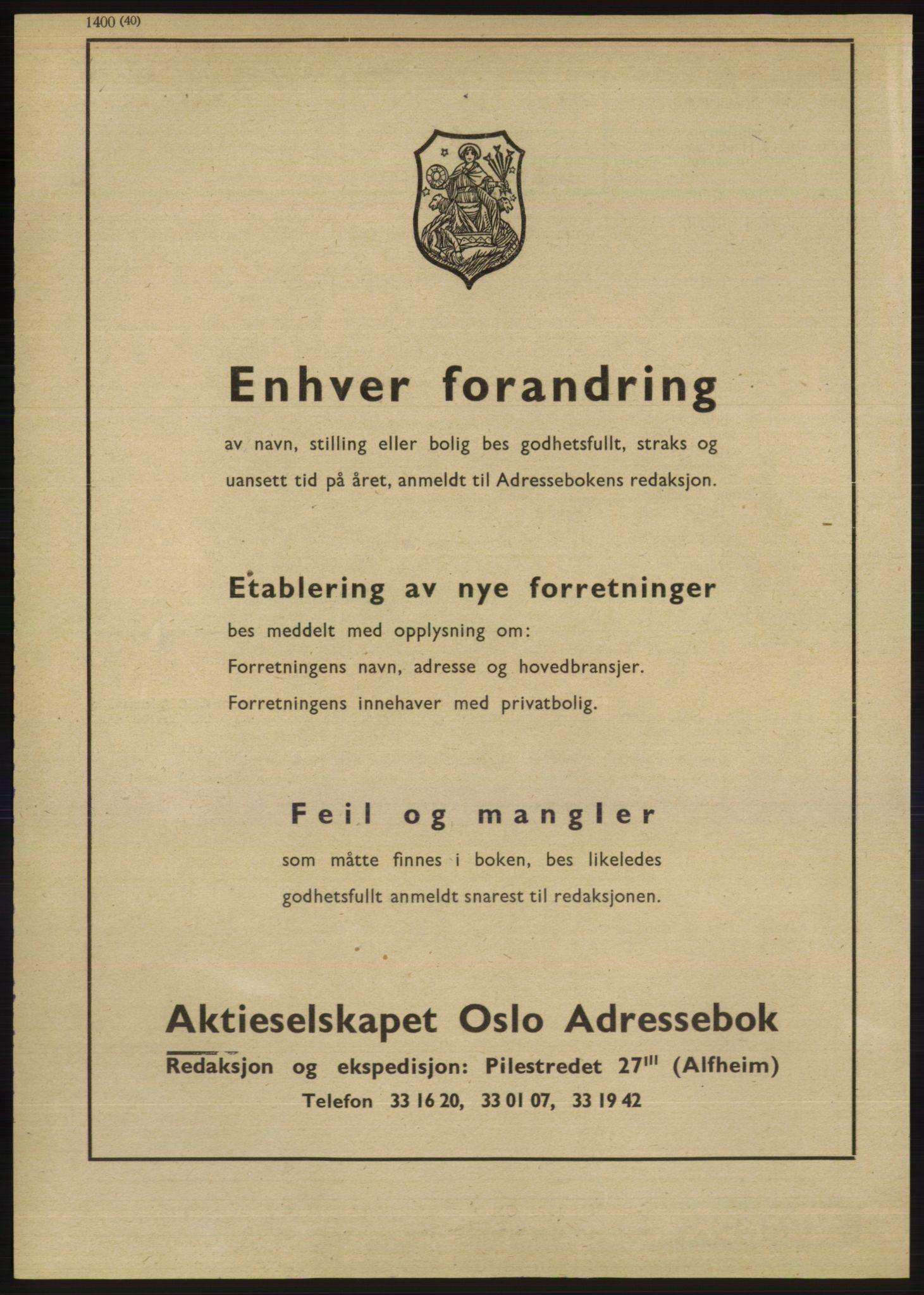 RA, Oslo adressebok (publikasjon)*, 1947, s. 1440