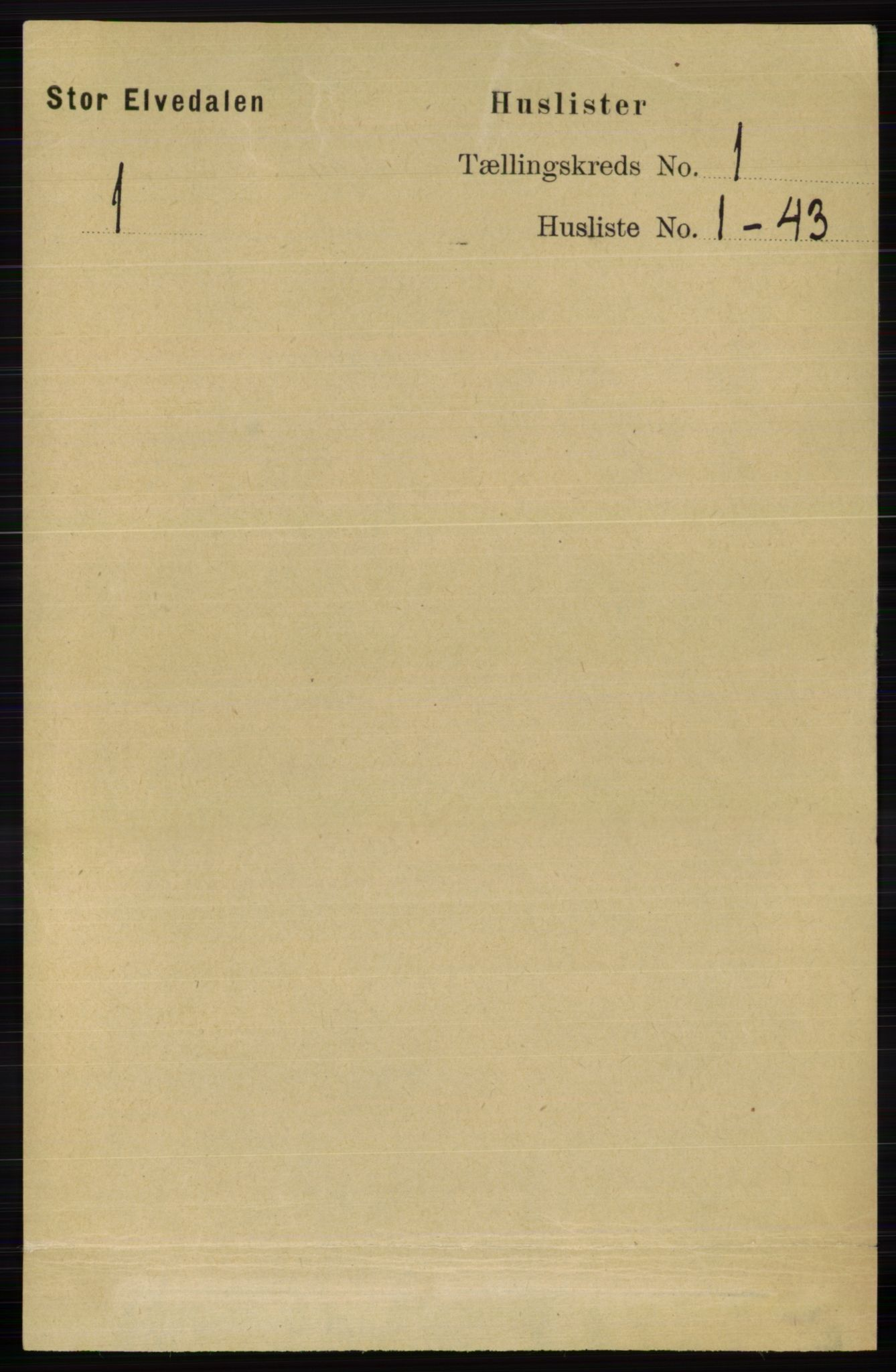 RA, Folketelling 1891 for 0430 Stor-Elvdal herred, 1891, s. 24