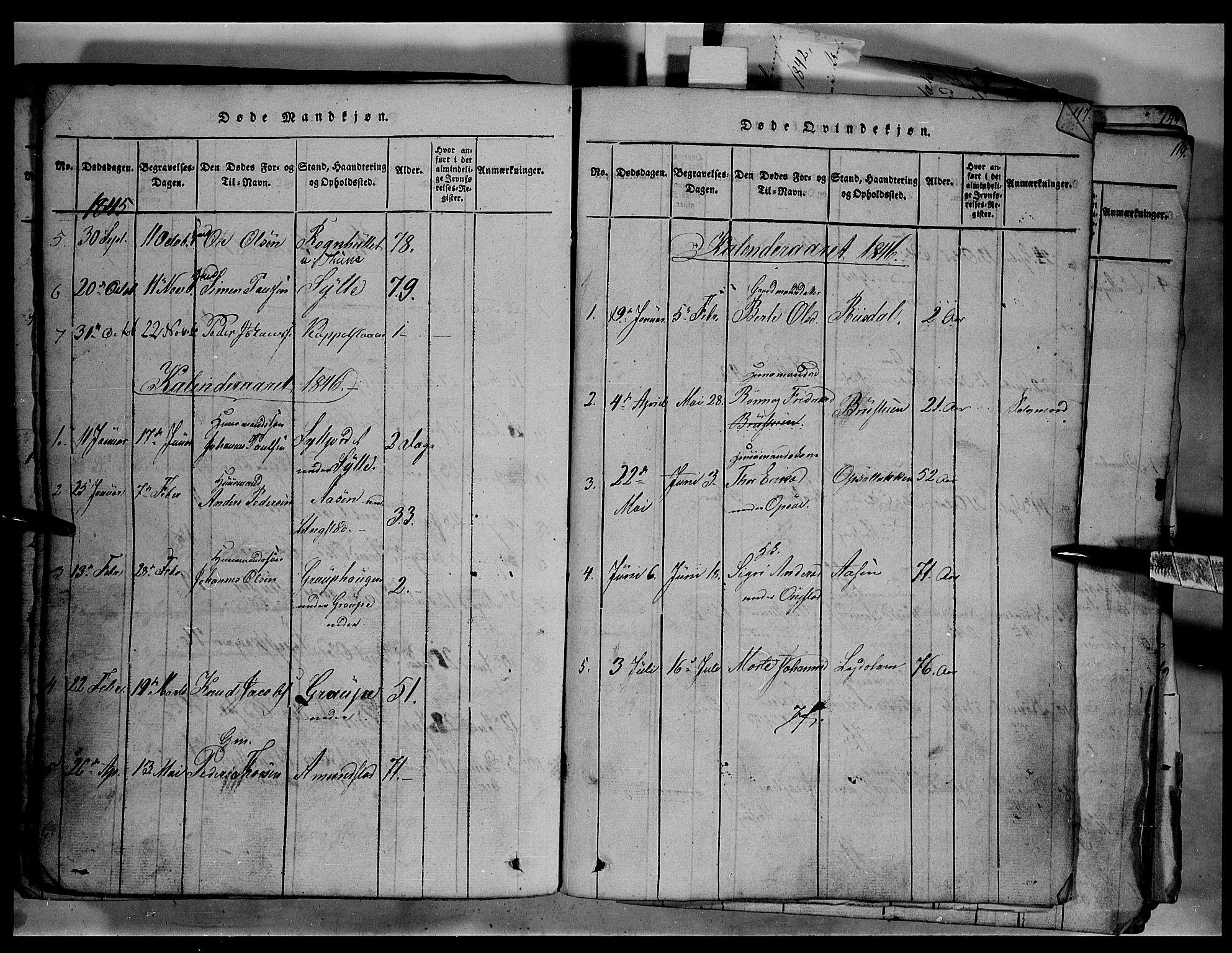SAH, Fron prestekontor, H/Ha/Hab/L0003: Klokkerbok nr. 3, 1816-1850, s. 116