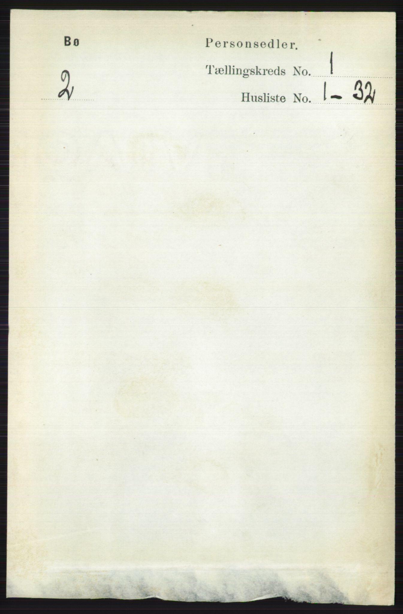RA, Folketelling 1891 for 0821 Bø herred, 1891, s. 121