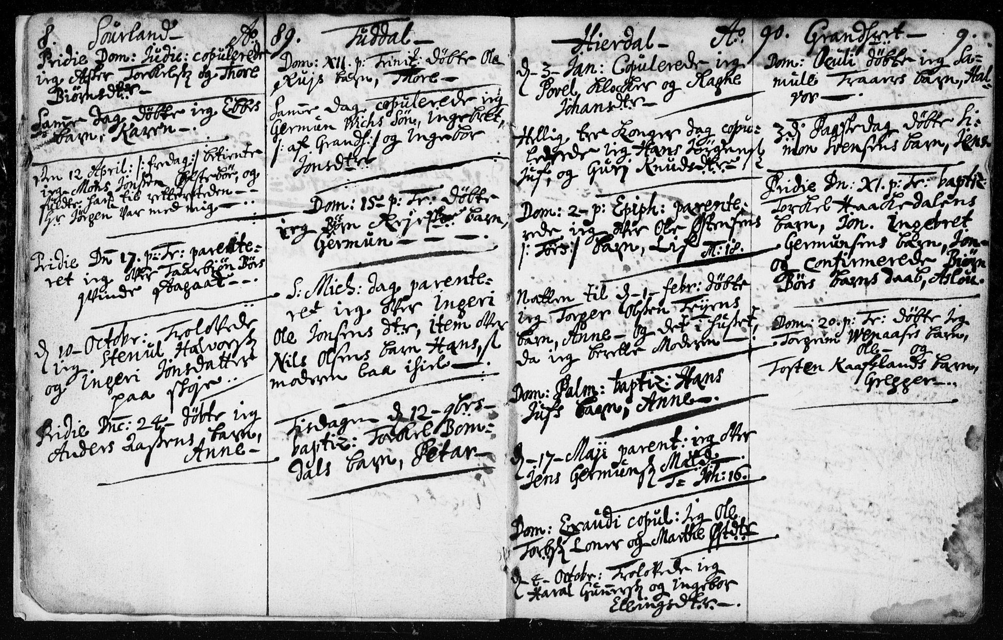 SAKO, Hjartdal kirkebøker, F/Fa/L0001: Ministerialbok nr. I 1, 1685-1714, s. 8-9