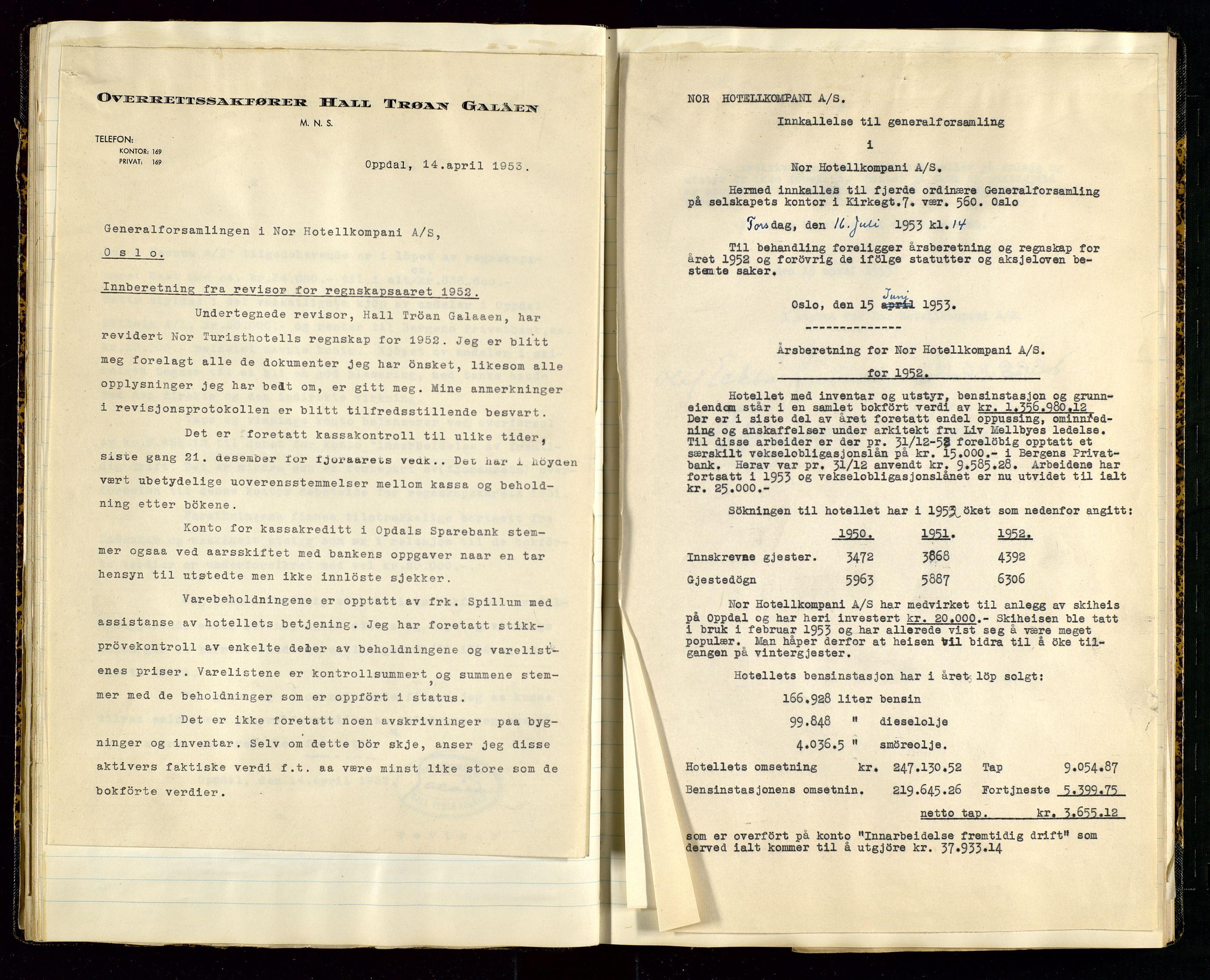 SAST, PA 1516 - Nor Hotellkompani A/S, A/L0001: Referatprotokoll, 1948-1855, s. 31