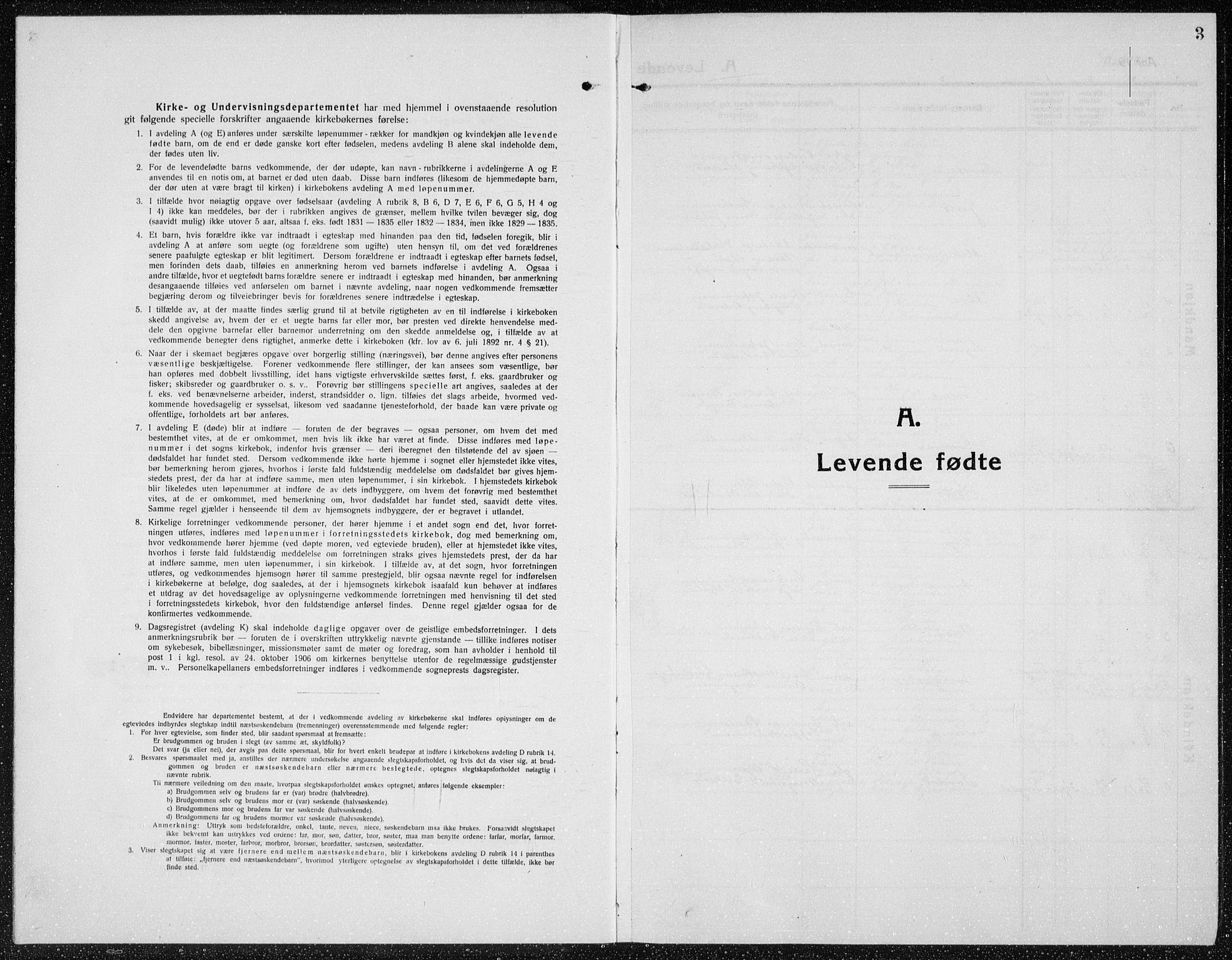 SAH, Brandbu prestekontor, Klokkerbok nr. 1, 1914-1937, s. 3