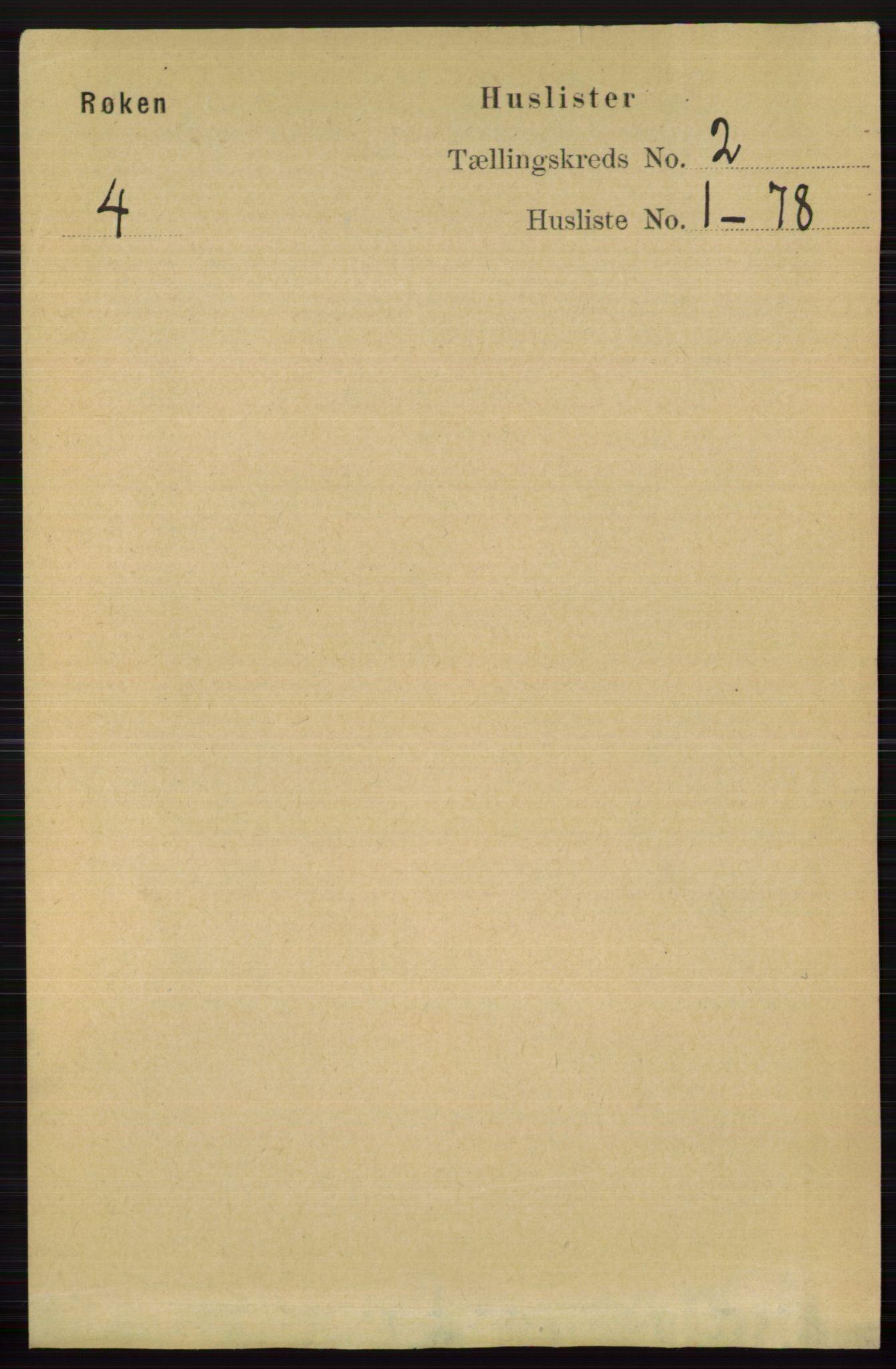 RA, Folketelling 1891 for 0627 Røyken herred, 1891, s. 464