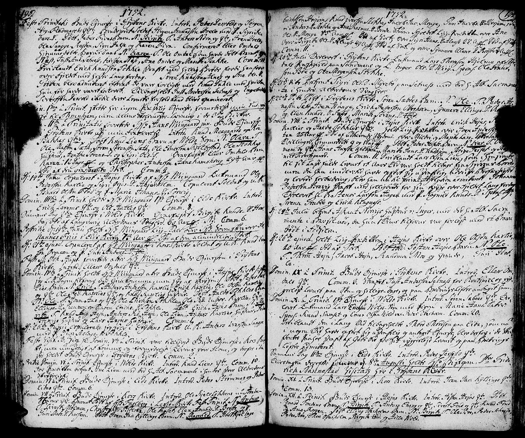 SAT, Ministerialprotokoller, klokkerbøker og fødselsregistre - Møre og Romsdal, 544/L0568: Ministerialbok nr. 544A01, 1725-1763, s. 193-194