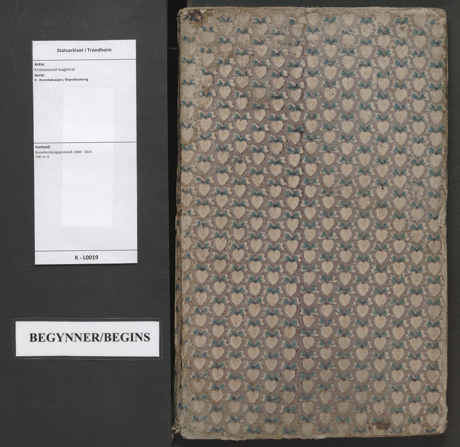 SAT, Kristiansund magistrat, K/L0019: Brannforsikringsprotokoll, 1808-1814