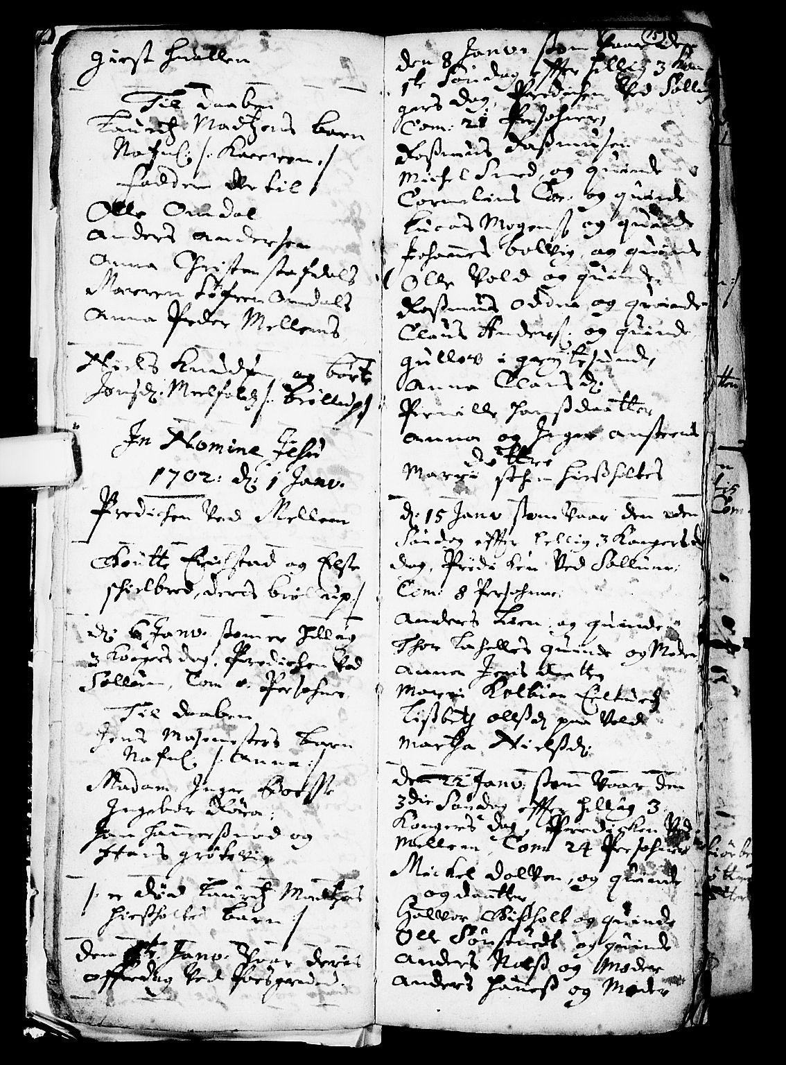 SAKO, Solum kirkebøker, F/Fa/L0001: Ministerialbok nr. I 1, 1701-1716, s. 15