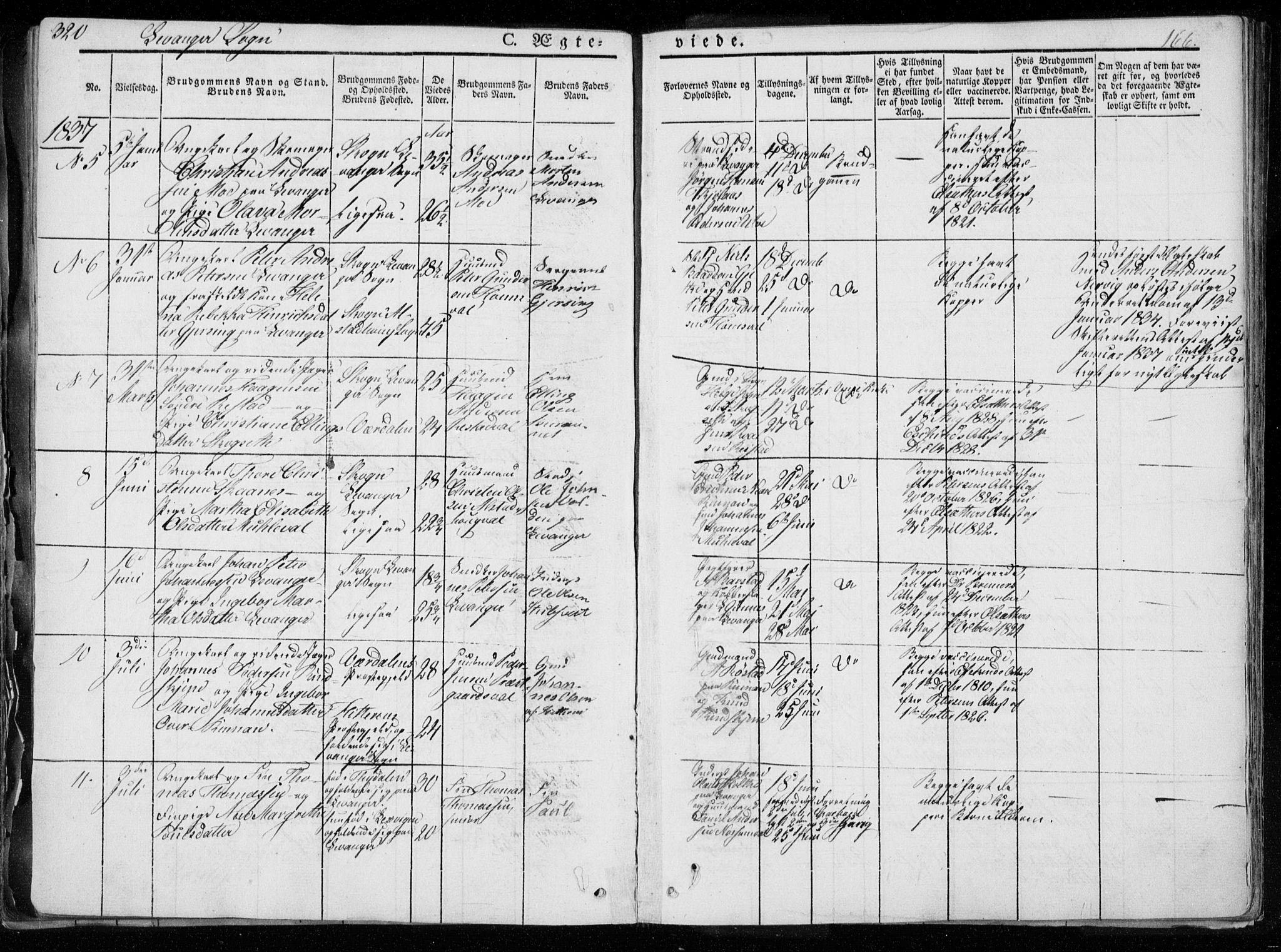 SAT, Ministerialprotokoller, klokkerbøker og fødselsregistre - Nord-Trøndelag, 720/L0183: Ministerialbok nr. 720A01, 1836-1855, s. 166
