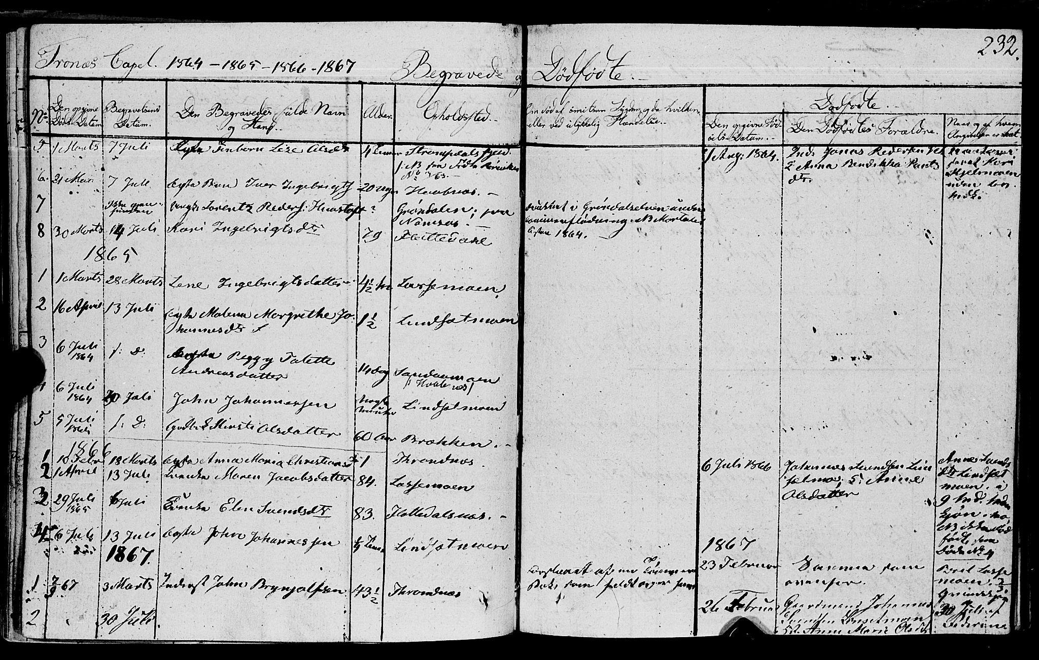 SAT, Ministerialprotokoller, klokkerbøker og fødselsregistre - Nord-Trøndelag, 762/L0538: Ministerialbok nr. 762A02 /2, 1833-1879, s. 232