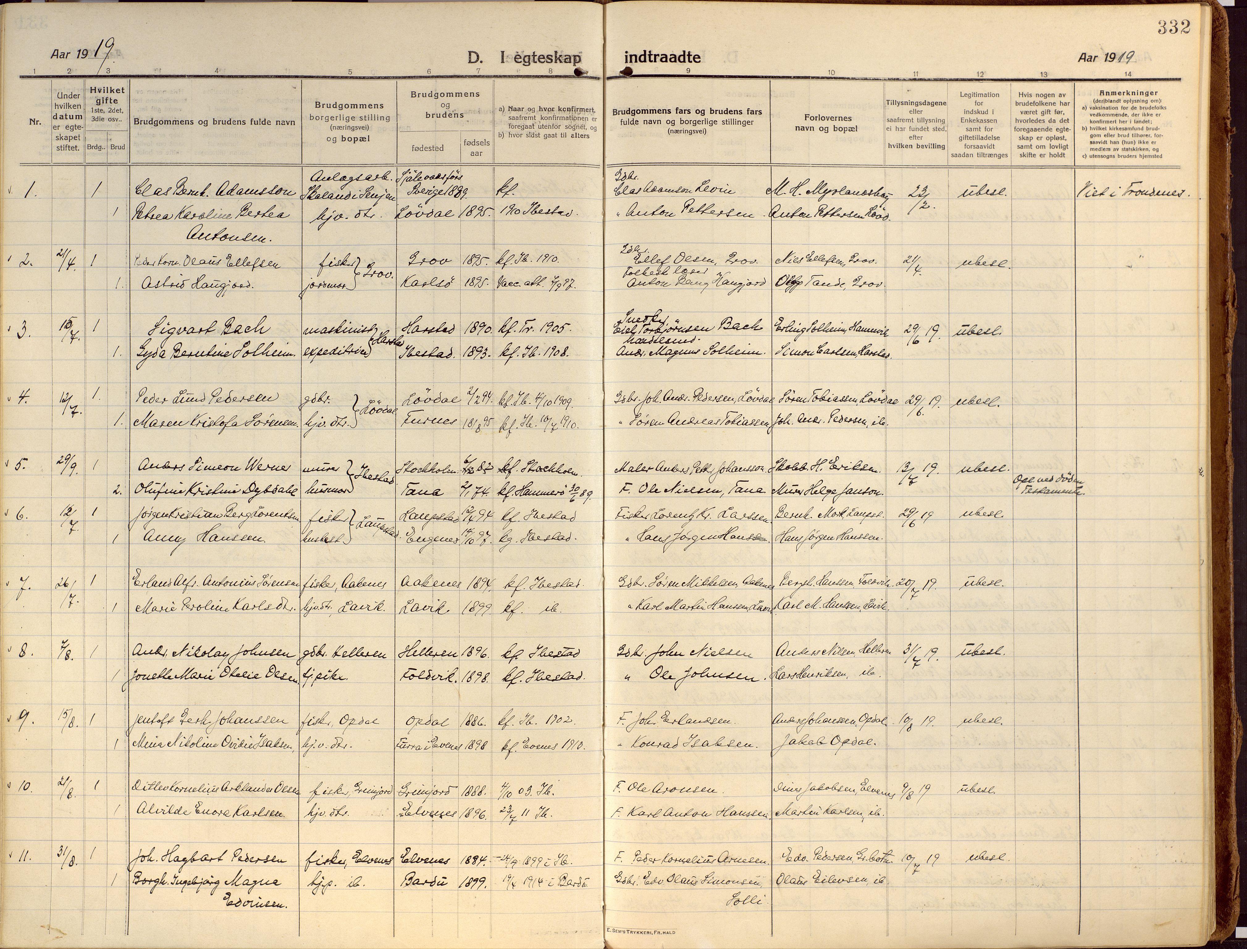 SATØ, Ibestad sokneprestembete, Ministerialbok nr. 18, 1915-1929, s. 332